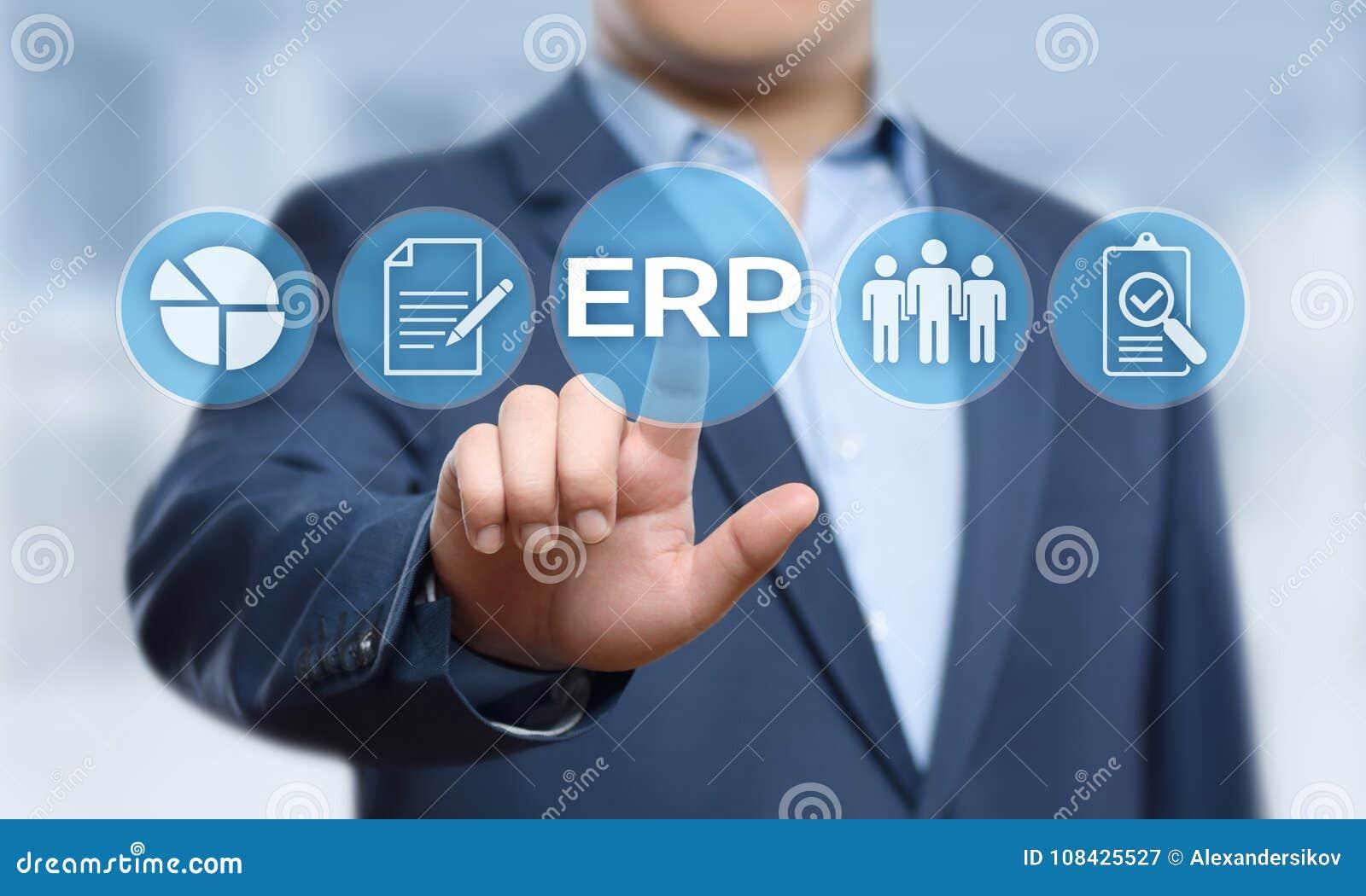 Conceito da tecnologia do Internet do negócio da gestão de Empresa Recurso Planeamento ERP Incorporado Empresa