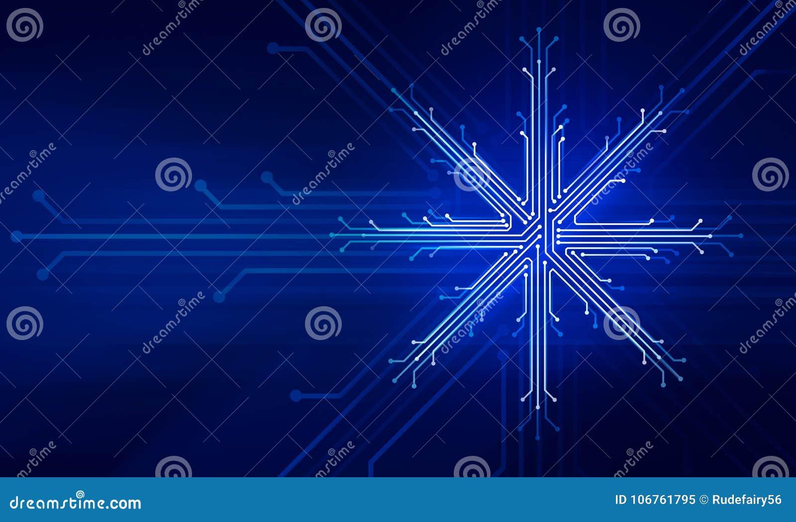 Conceito da tecnologia do Natal do ano novo de Showflake
