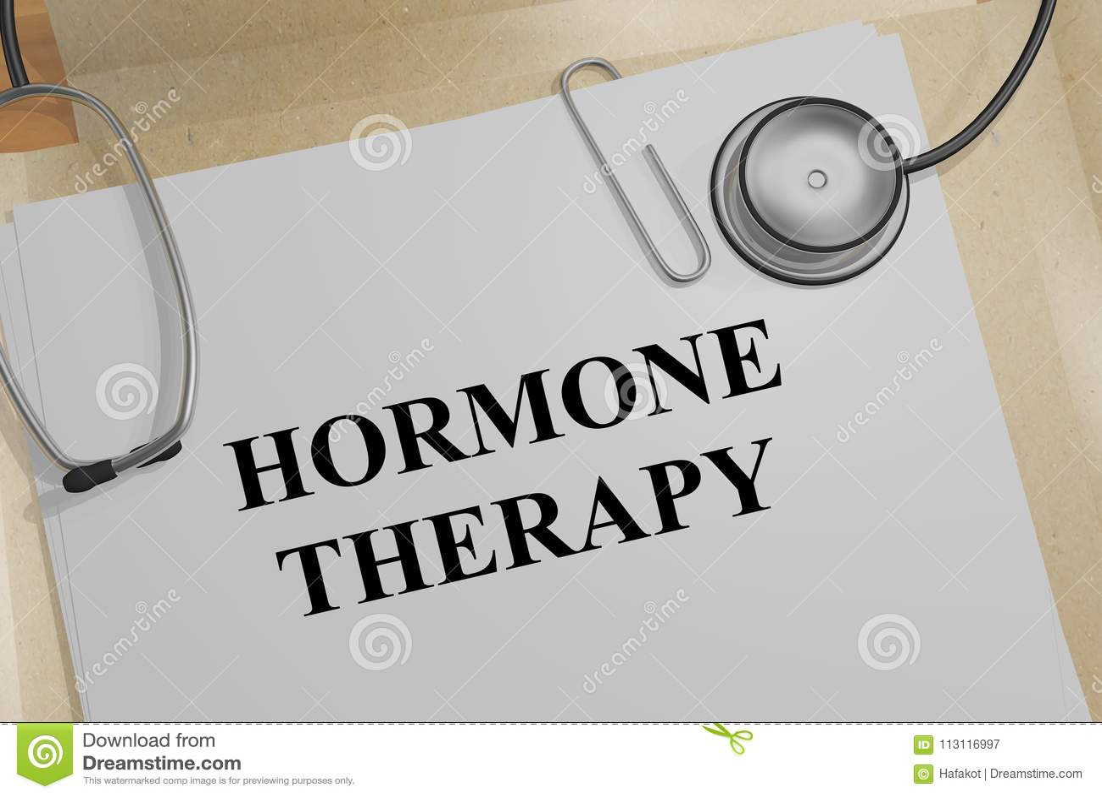 Conceito da terapia da hormona