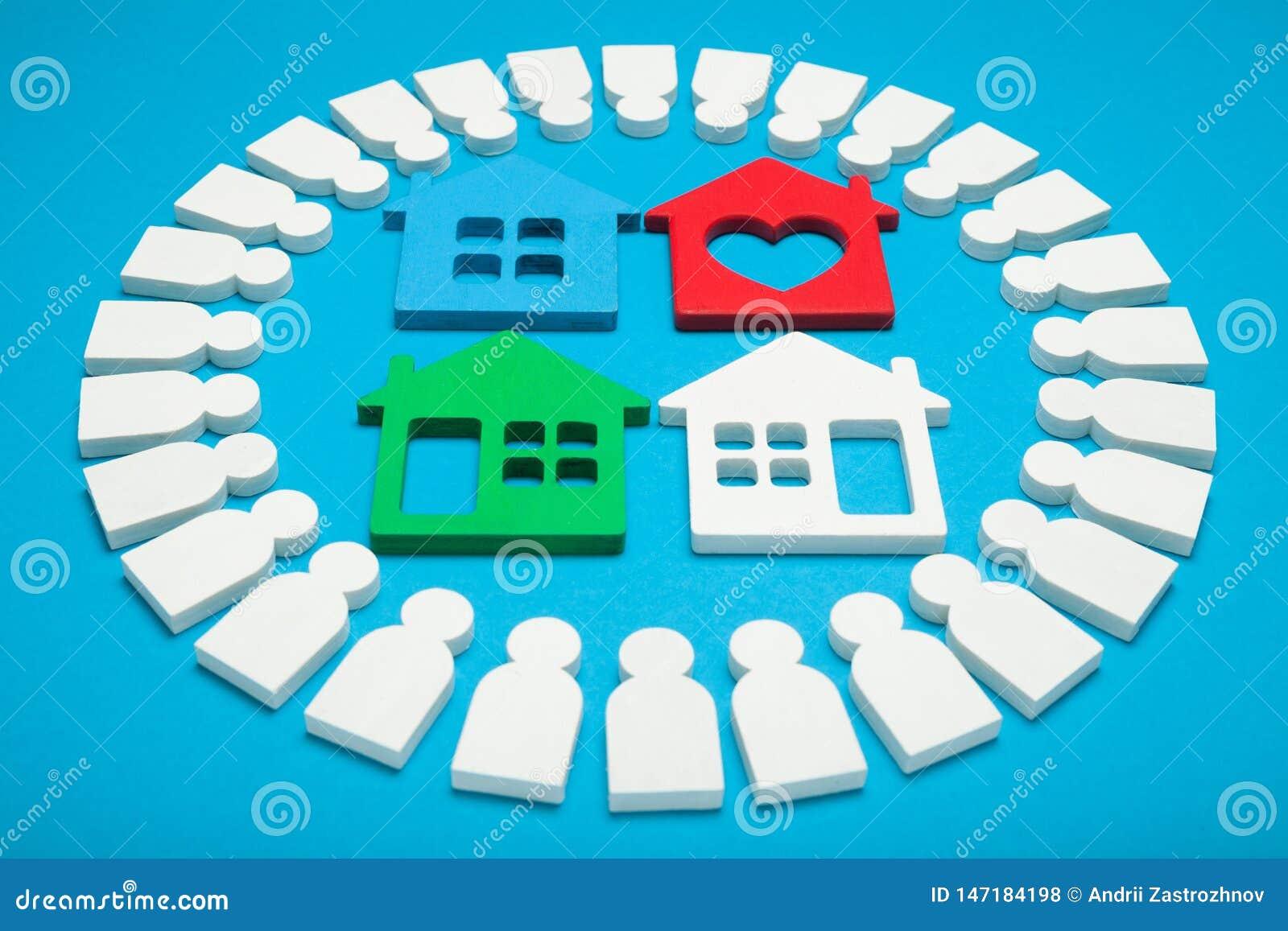 Conceito da venda de casa, propriedade do empréstimo Pagamento de aluguel, agência do aluguel