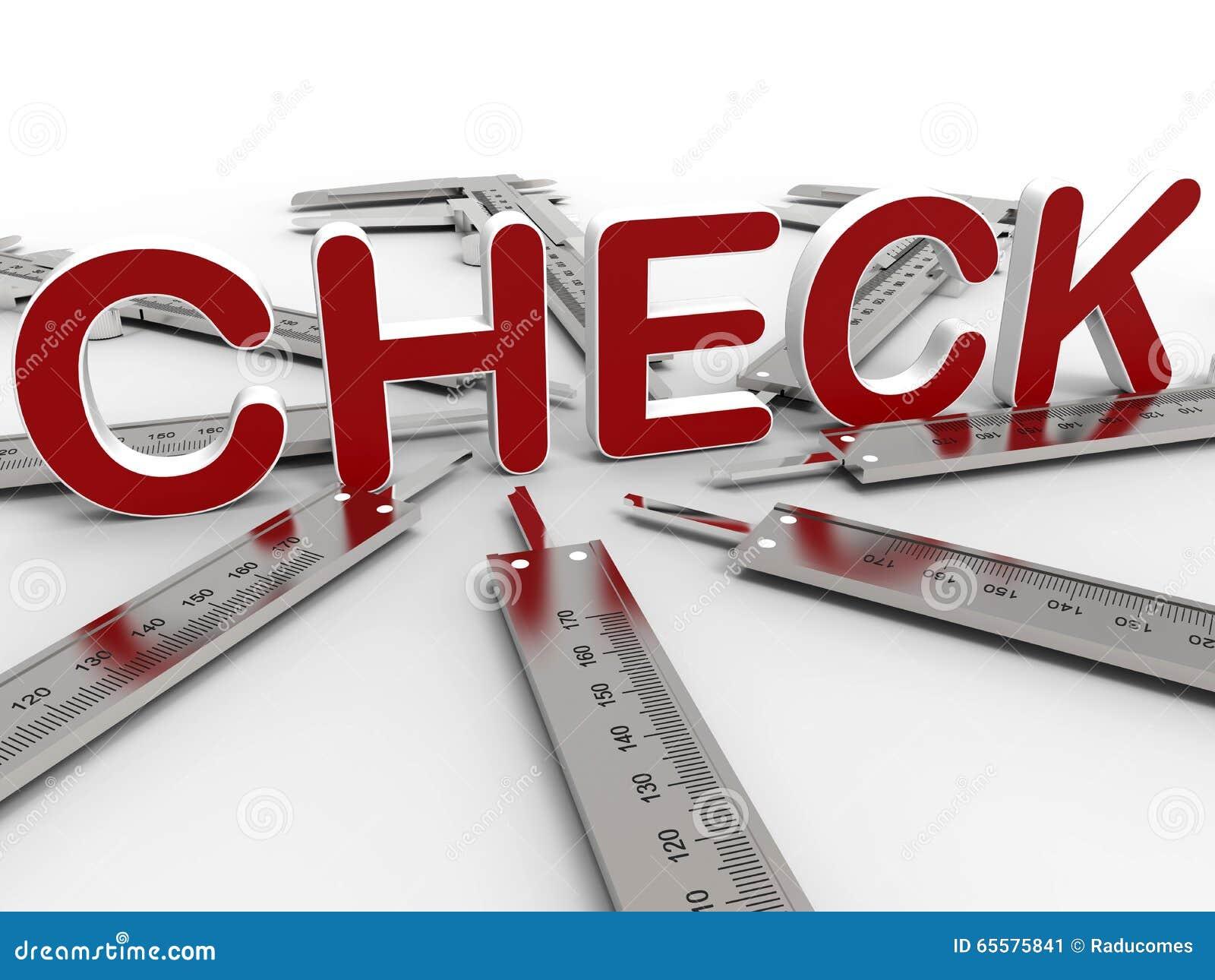 Conceito da verificação dos compassos de calibre