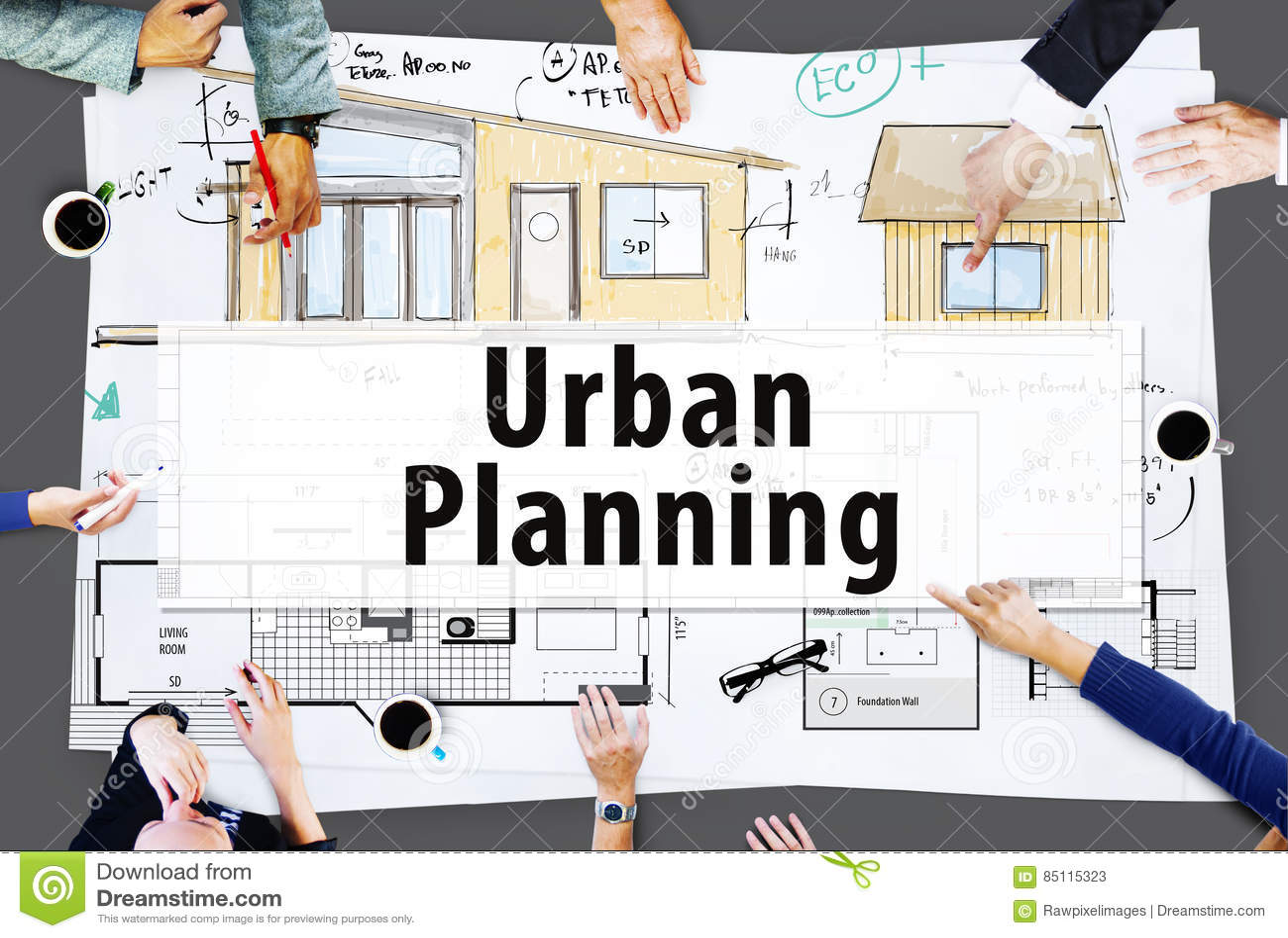 Conceito das ideias da arquitetura do projeto da construção da casa