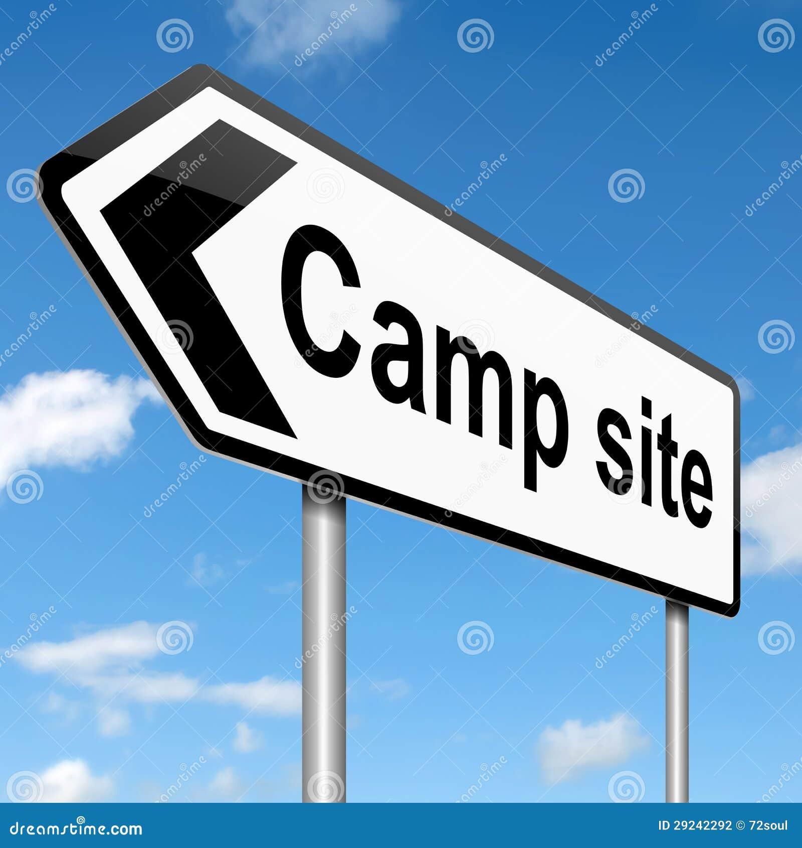 Download Conceito de acampamento. ilustração stock. Ilustração de azul - 29242292