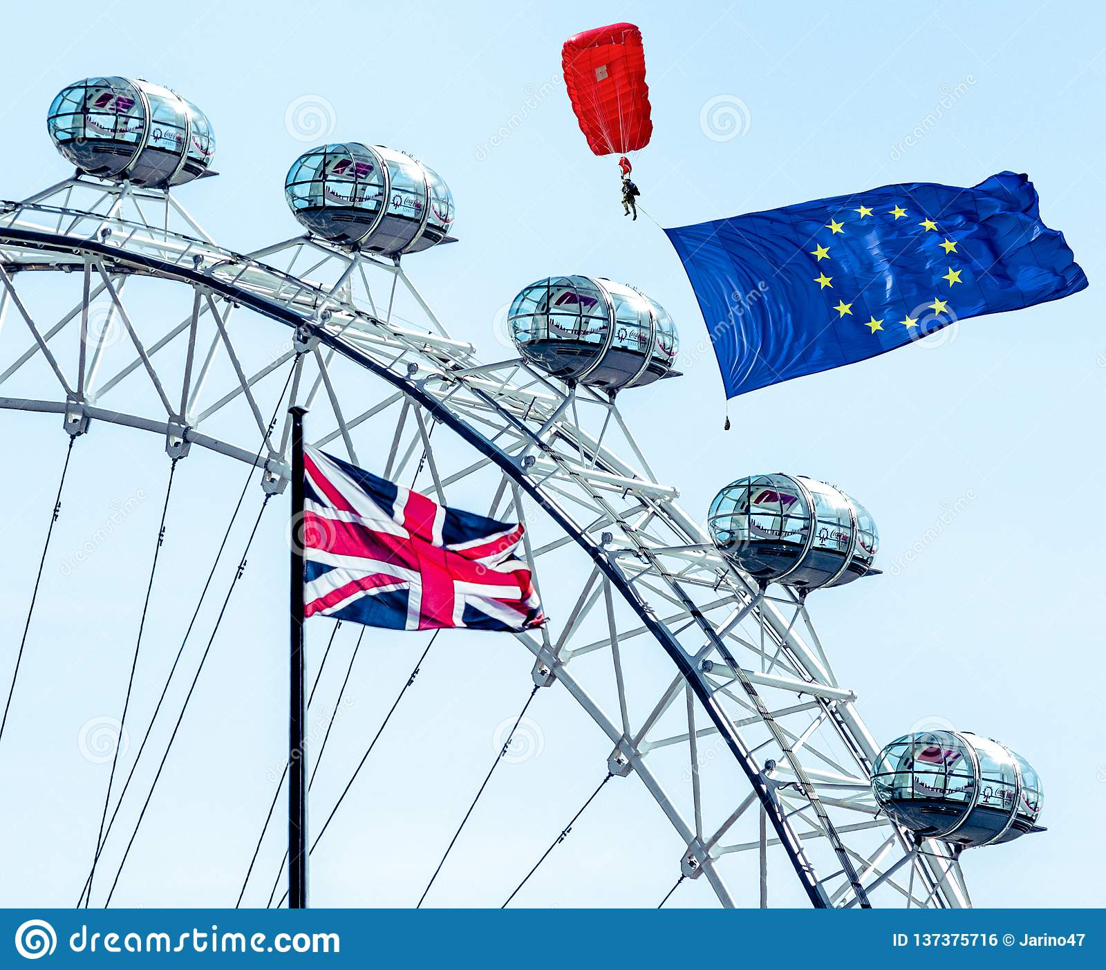 Conceito de Brexit em Londres
