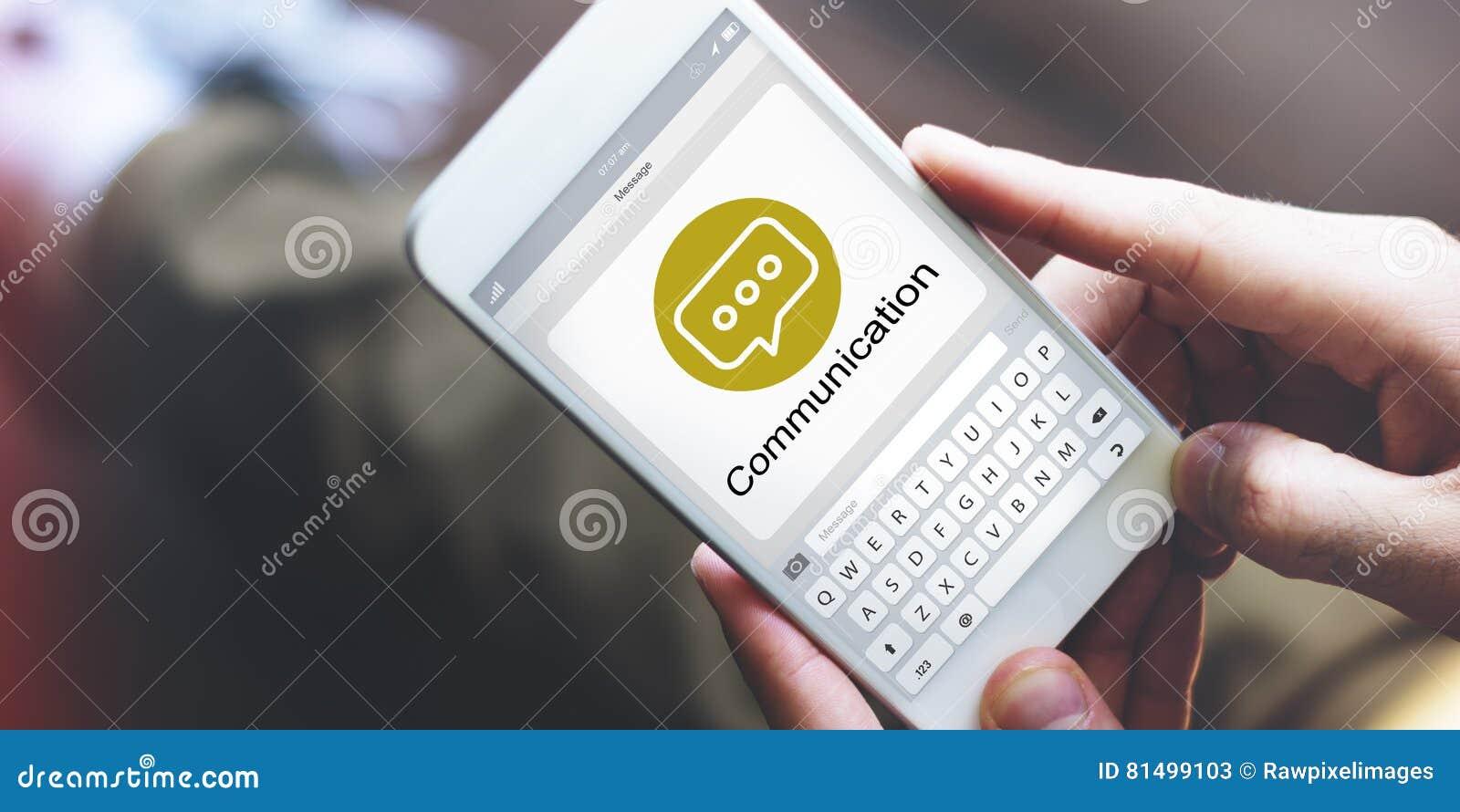 Conceito de Chatting Social Networking do mensageiro
