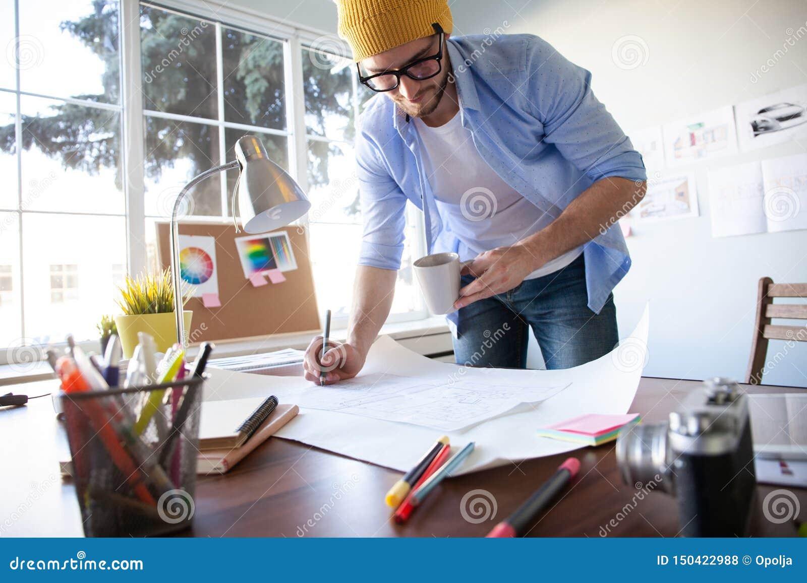 Conceito de Creative Occupation Blueprint do arquiteto do est?dio do projeto