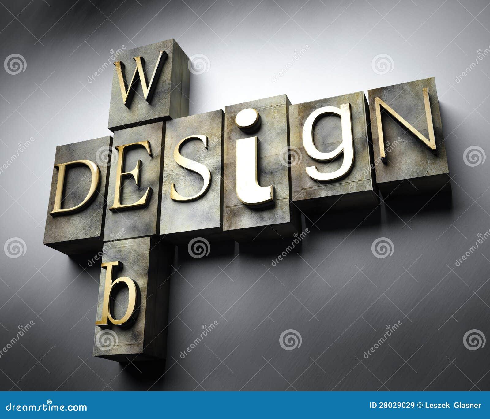 Conceito de design web, texto da tipografia do vintage