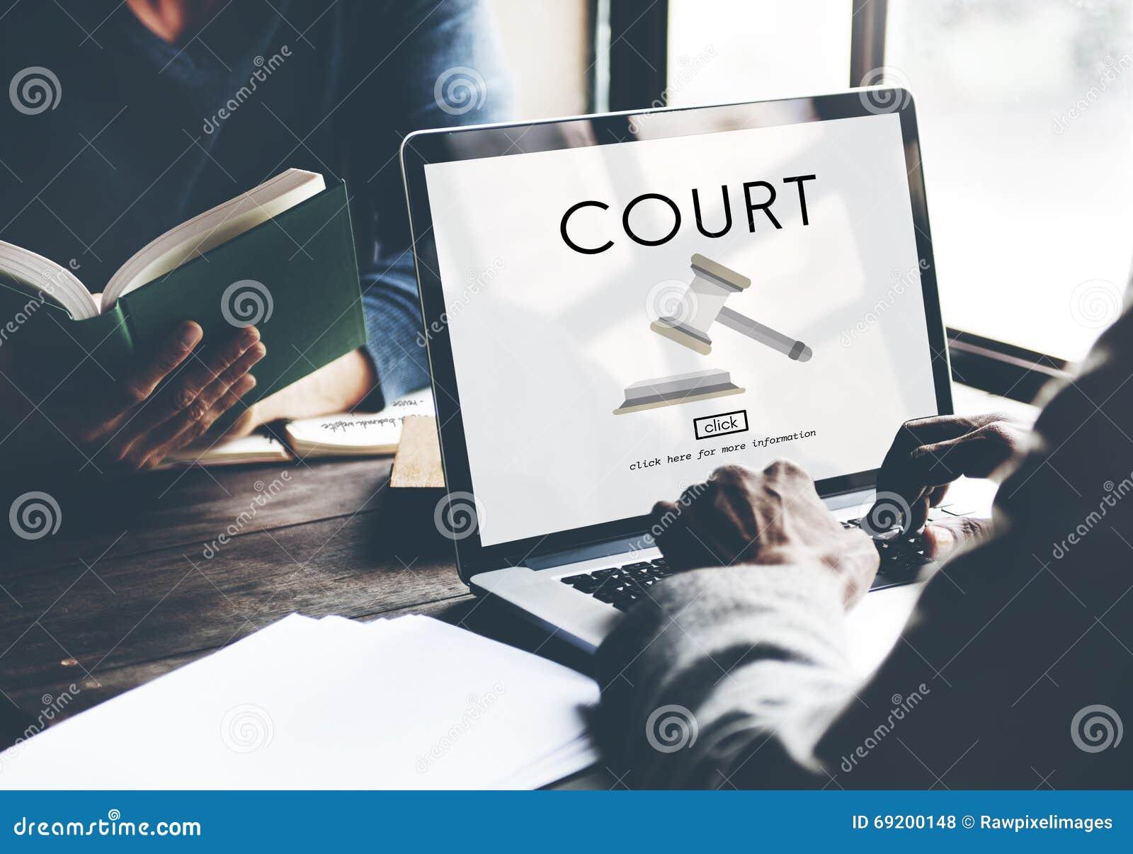 Conceito de Law Legal Order do juiz do crime da autoridade da corte