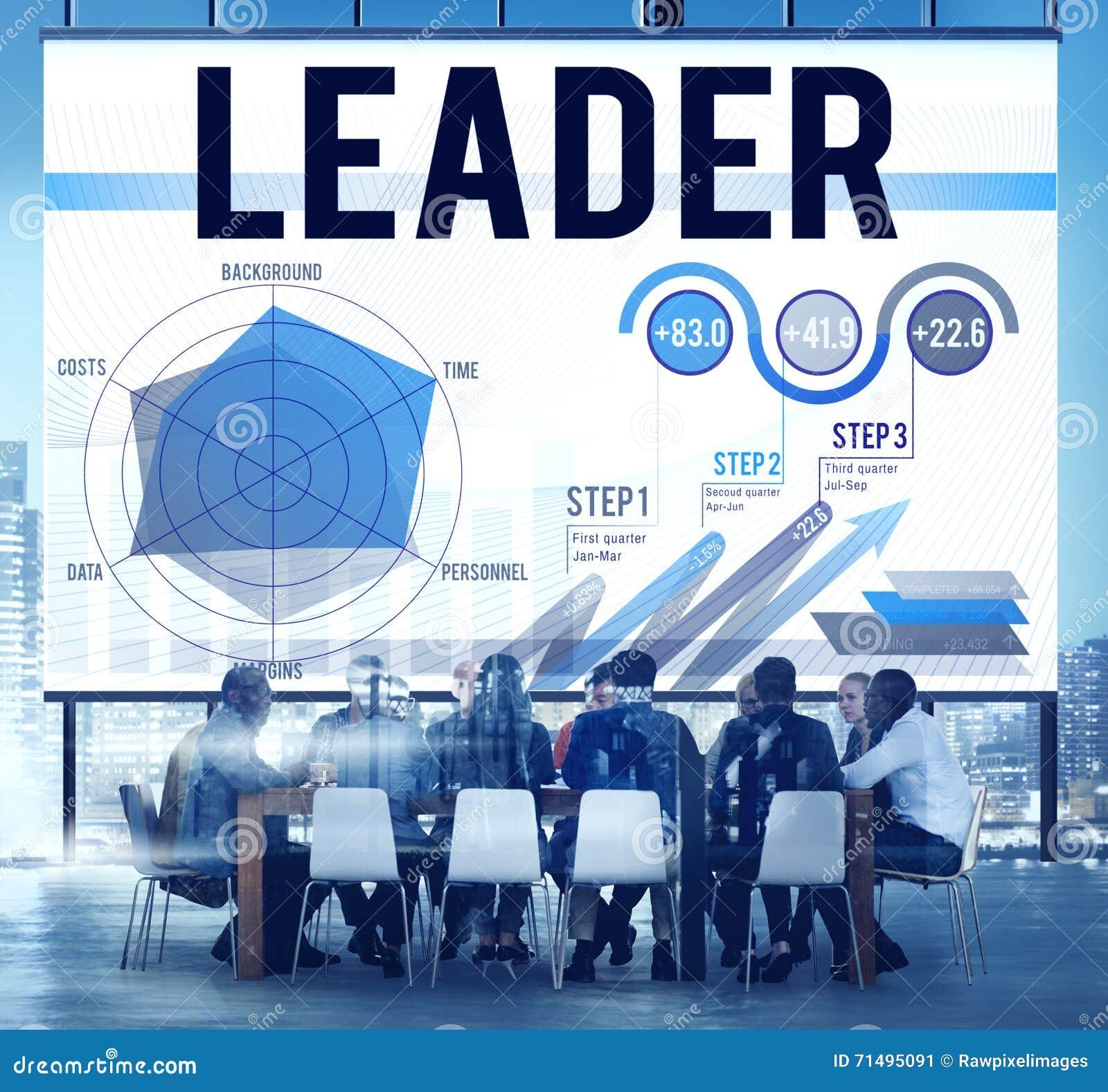 Conceito de Leadership Business Meeting do líder