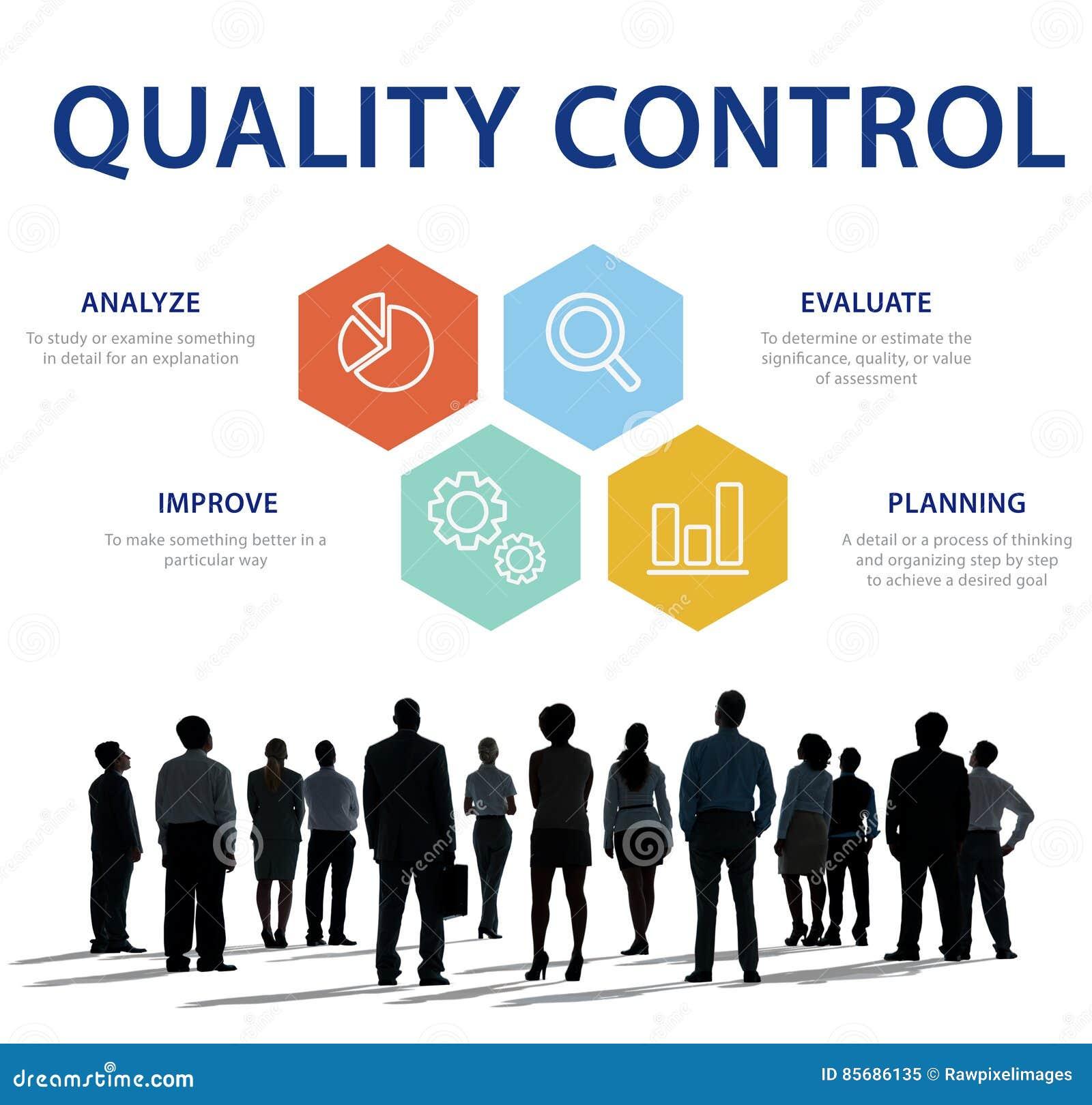 Conceito de produto da verificação de controle de qualidade