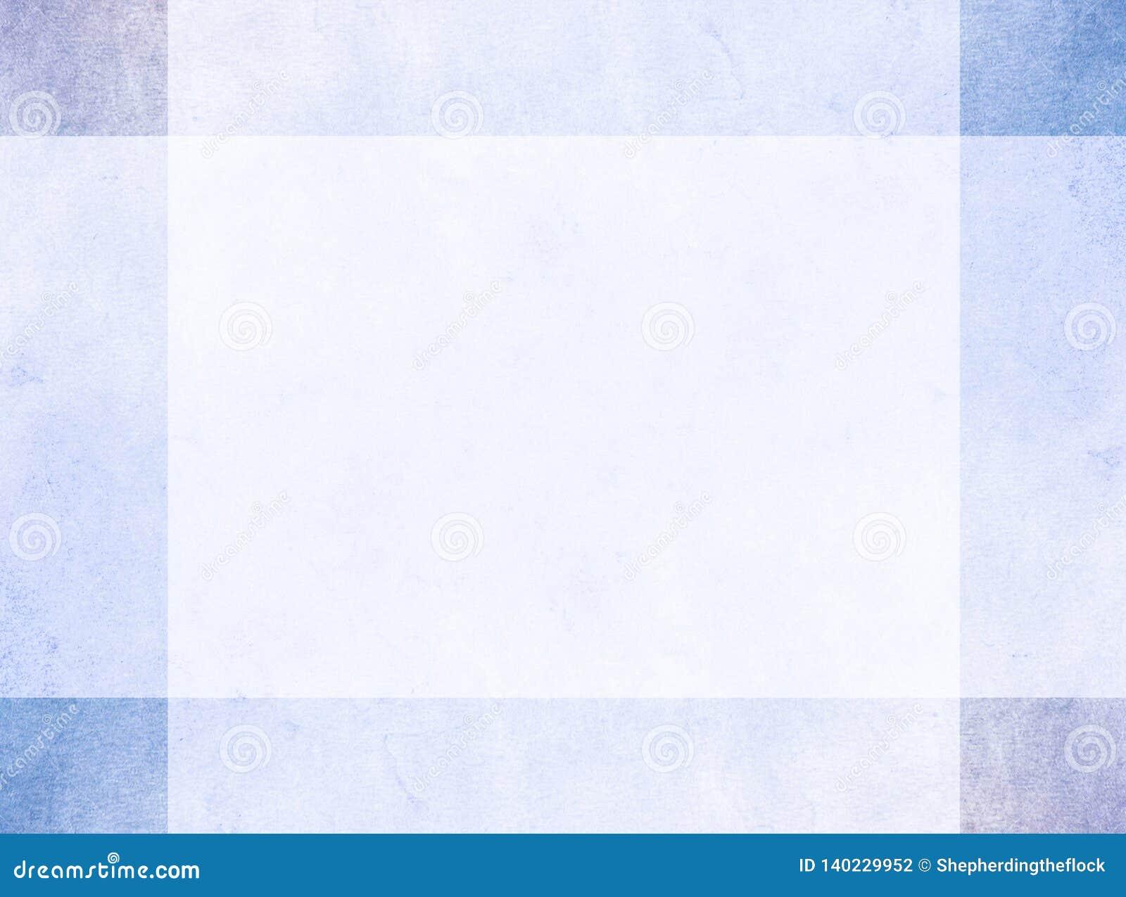 Conceito de projeto abstrato Beira azul sutil do grunge com quadrados de canto mais escuros