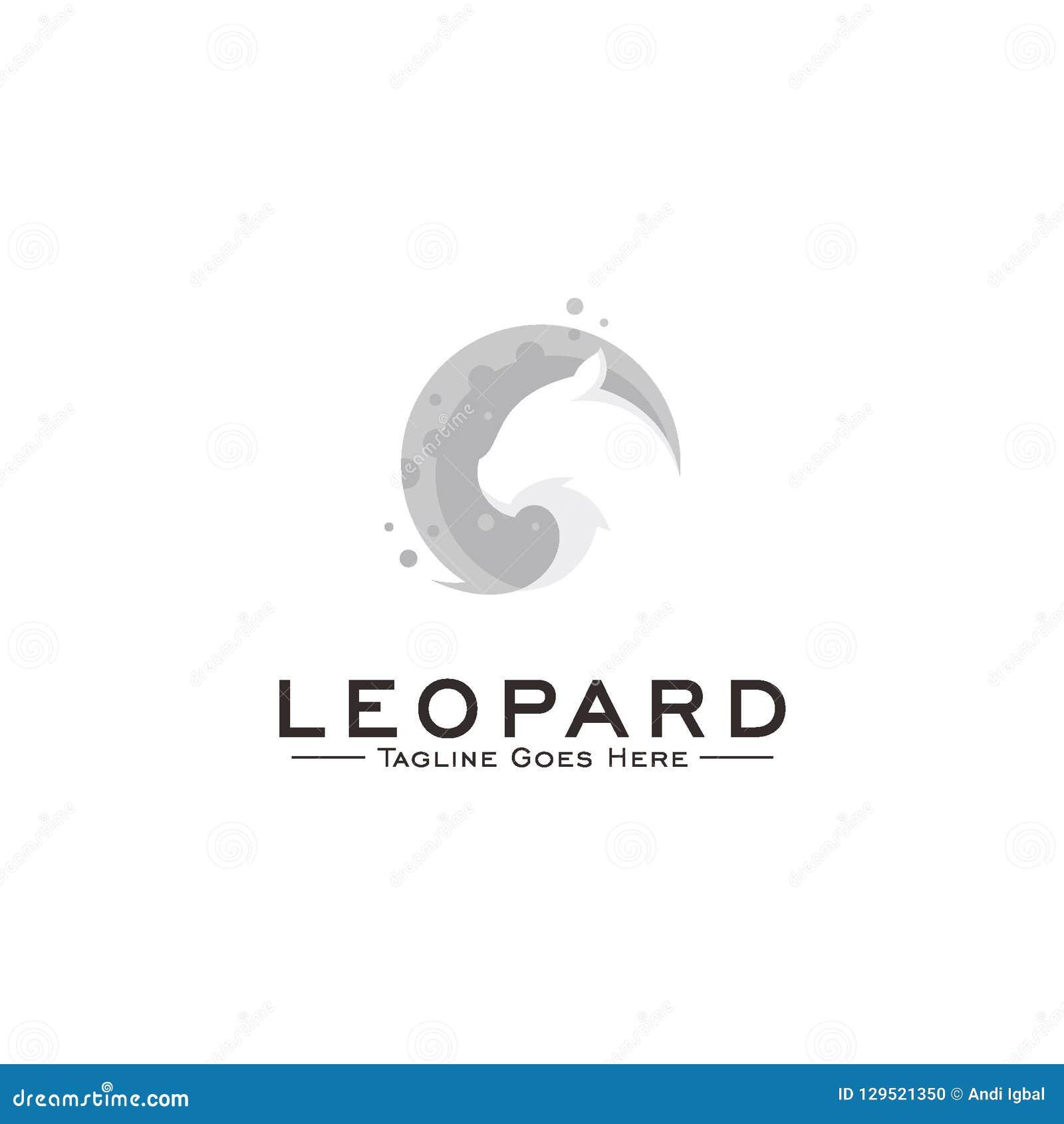 Conceito de projeto do logotipo do leopardo