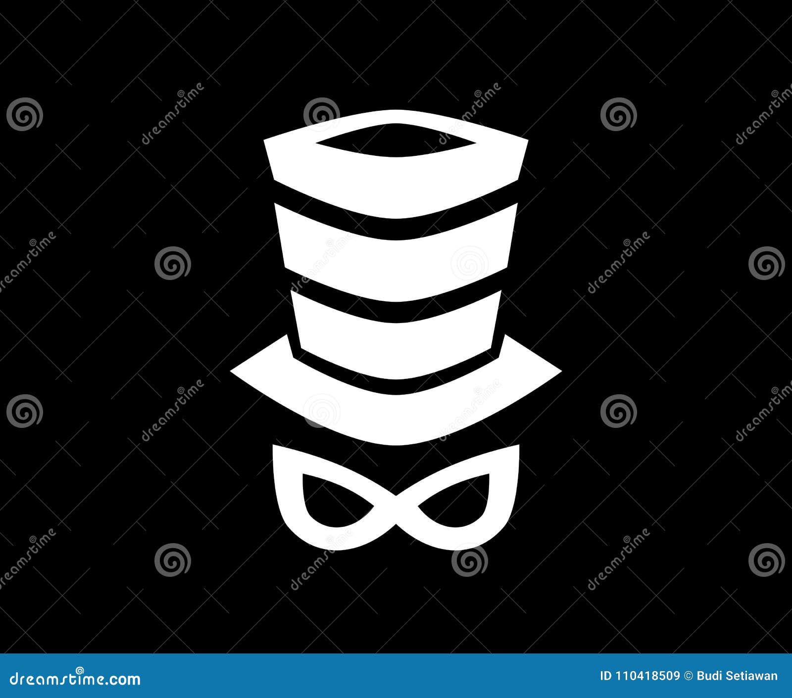 Conceito de projeto do logotipo do tampão
