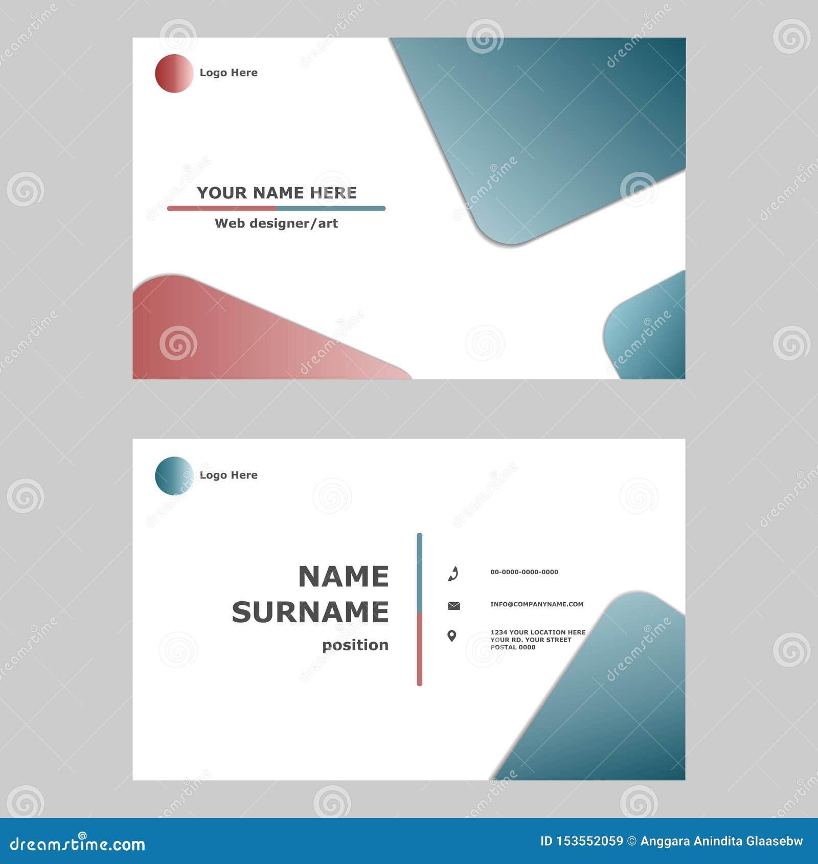 Conceito de projeto do molde do cart?o Ilustração do cartão gráfico de vetor projeto moderno, simples e limpo do estilo para c pr