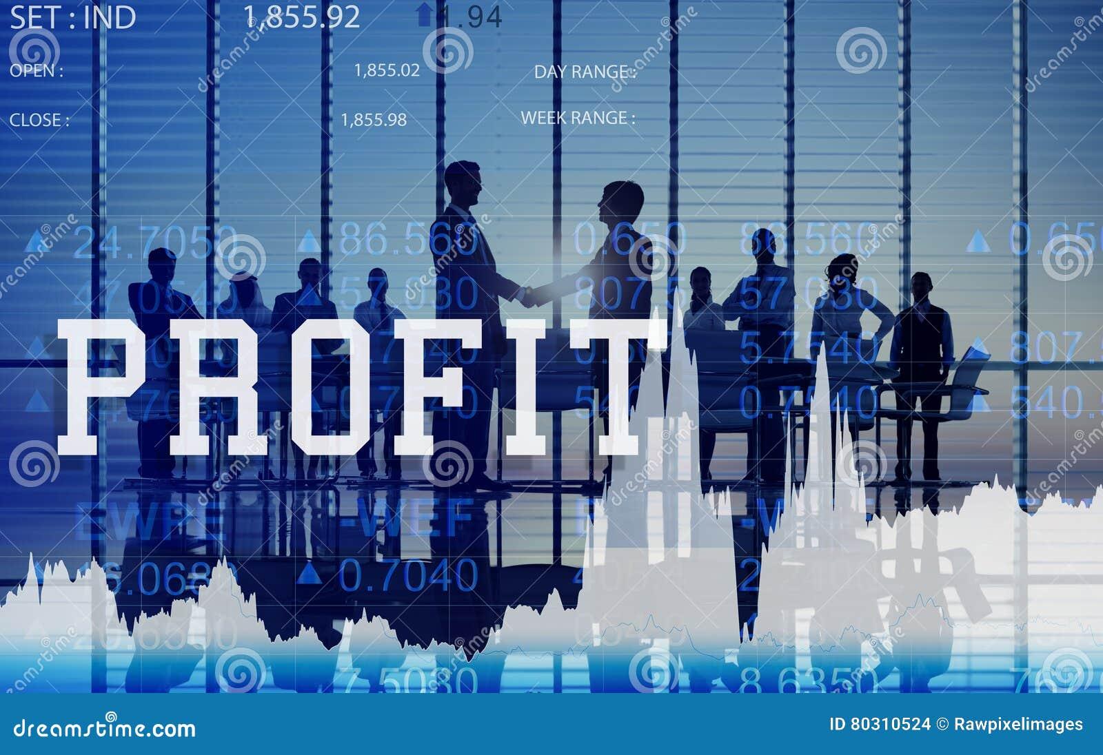 Conceito de rendimento bruto do benefício financeiro do benefício dos ativos do lucro