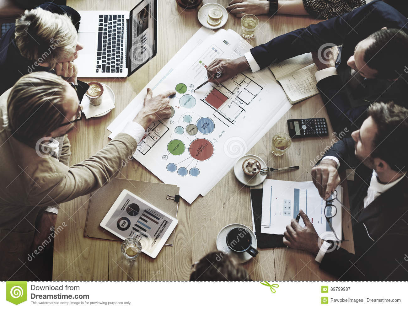 Conceito de Team Meeting Brainstorming Planning Analysing