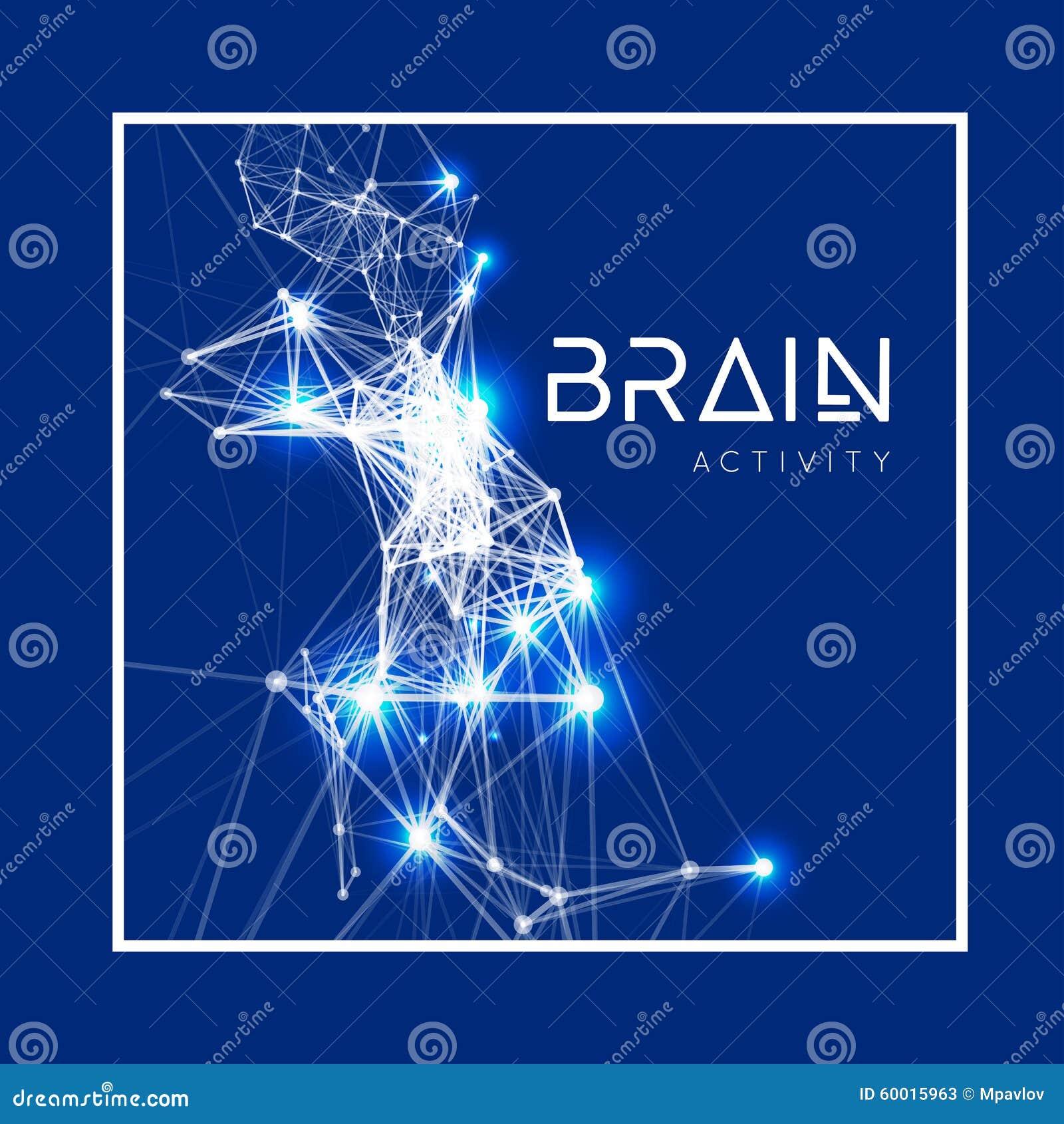 Conceito de um cérebro humano ativo