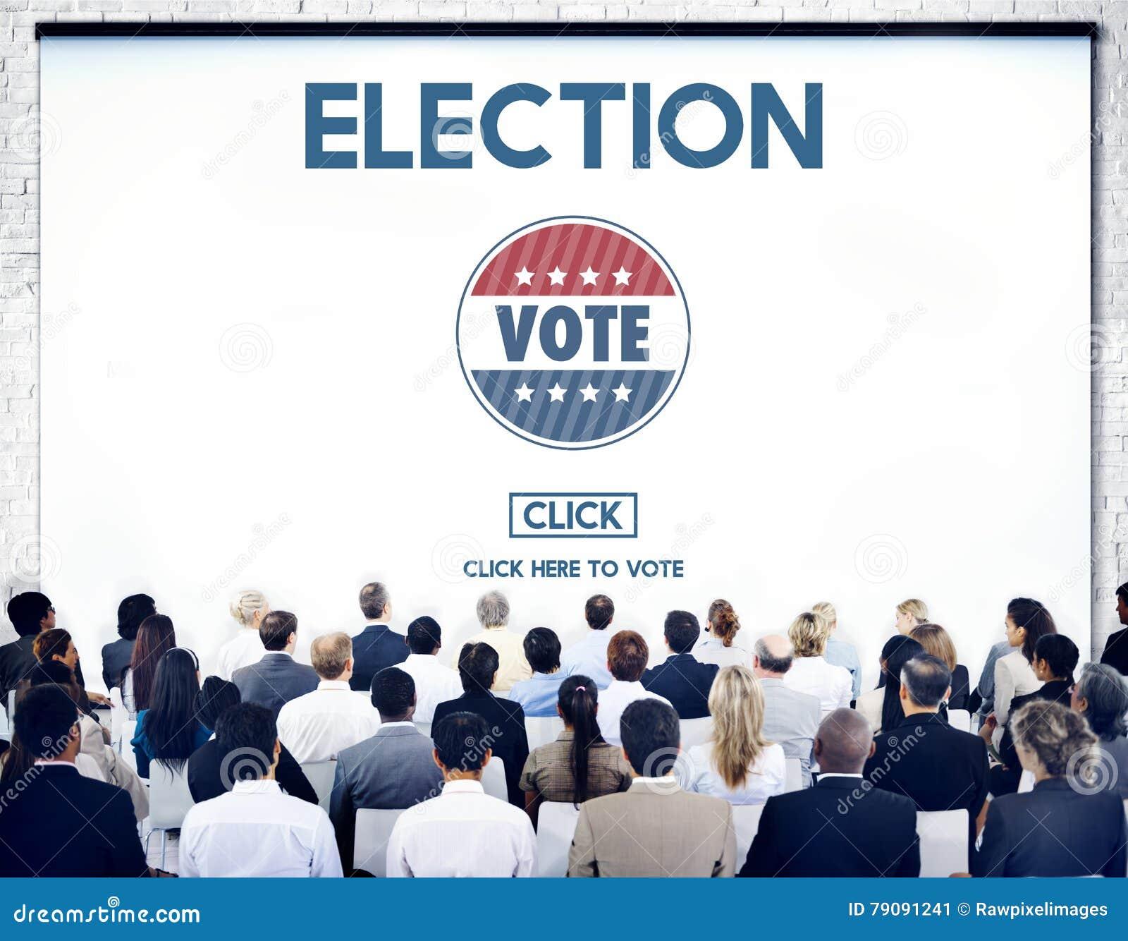 Conceito de votação bem escolhido do governo do voto da eleição