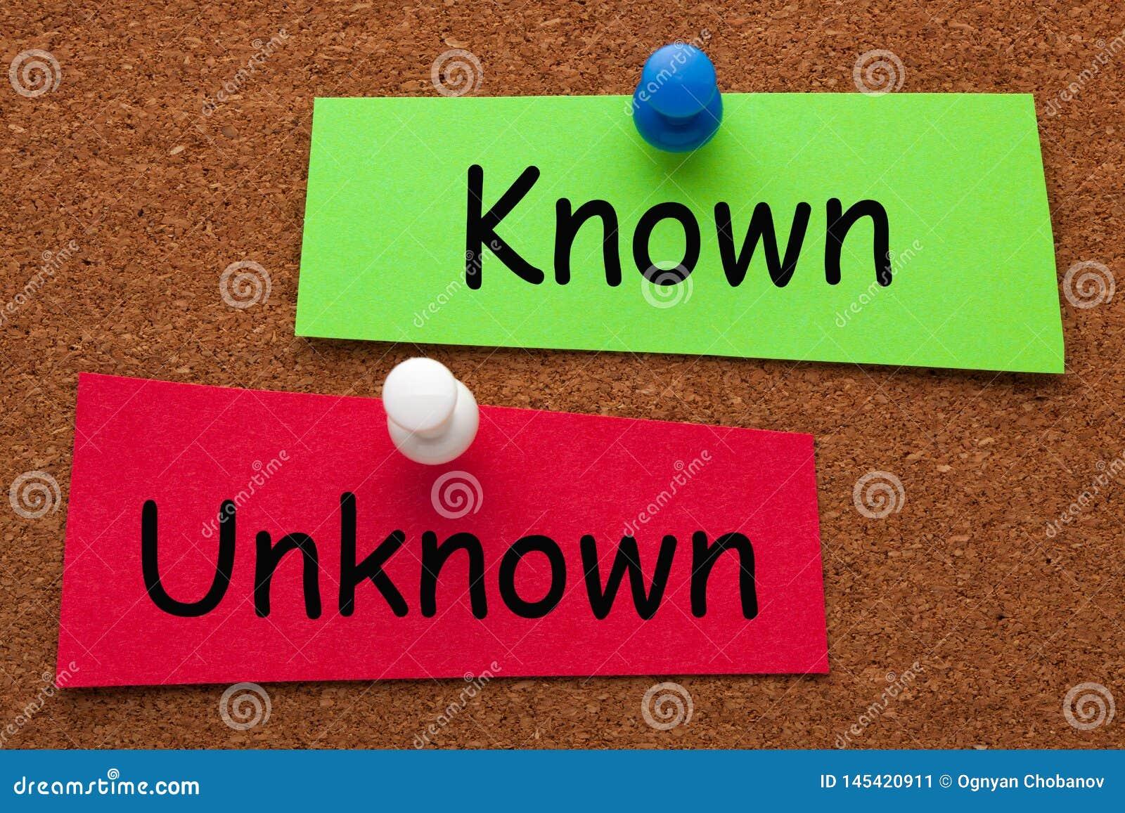 Conceito desconhecido conhecido