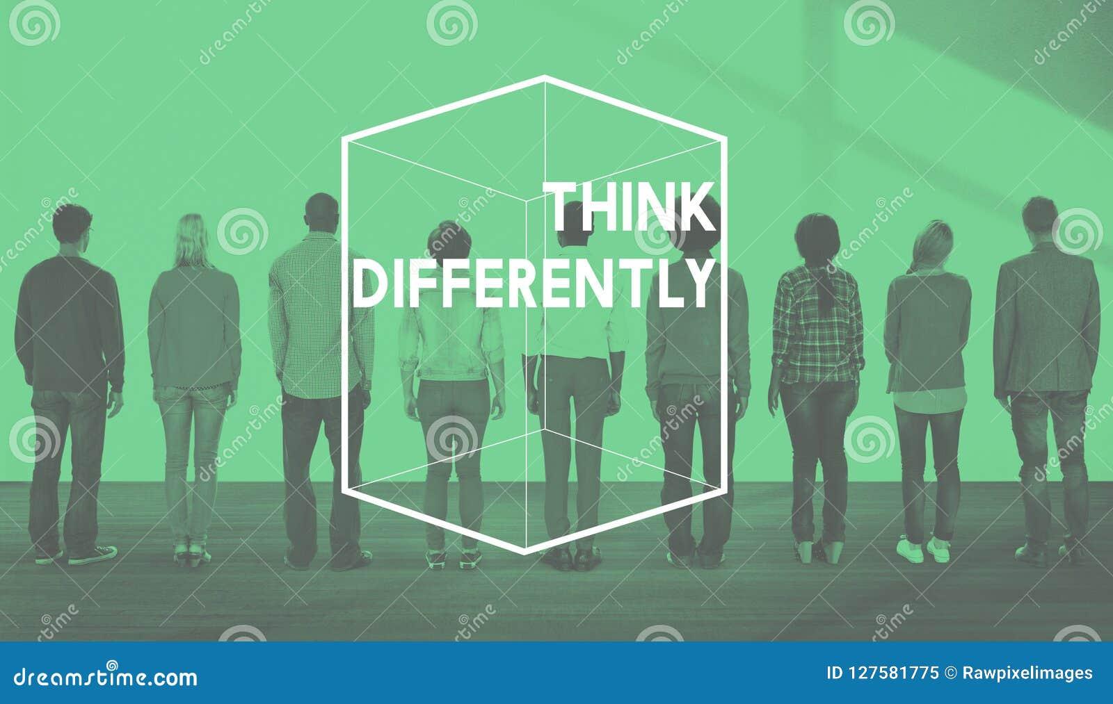 Conceito diferente do gráfico do cubo do pensamento criativo