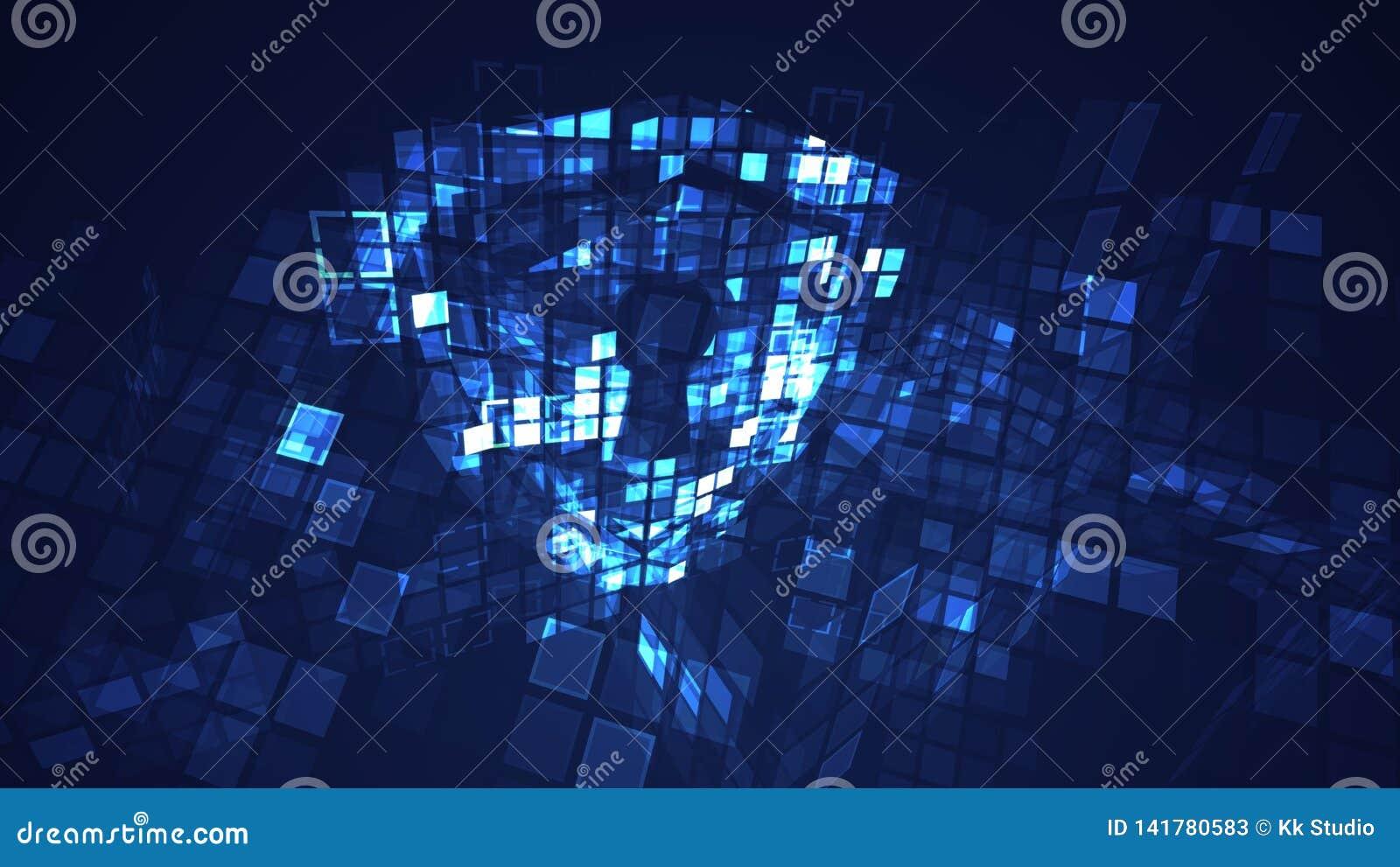 Conceito digital abstrato da segurança da proteção do protetor do cyber