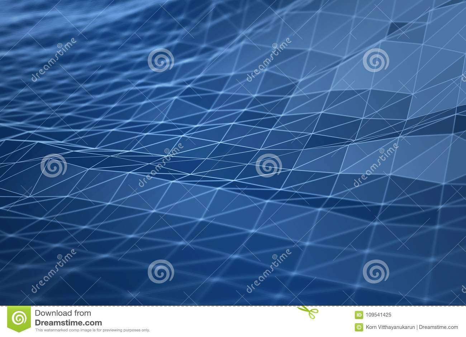 Conceito digital da ilustração da geometria 3d