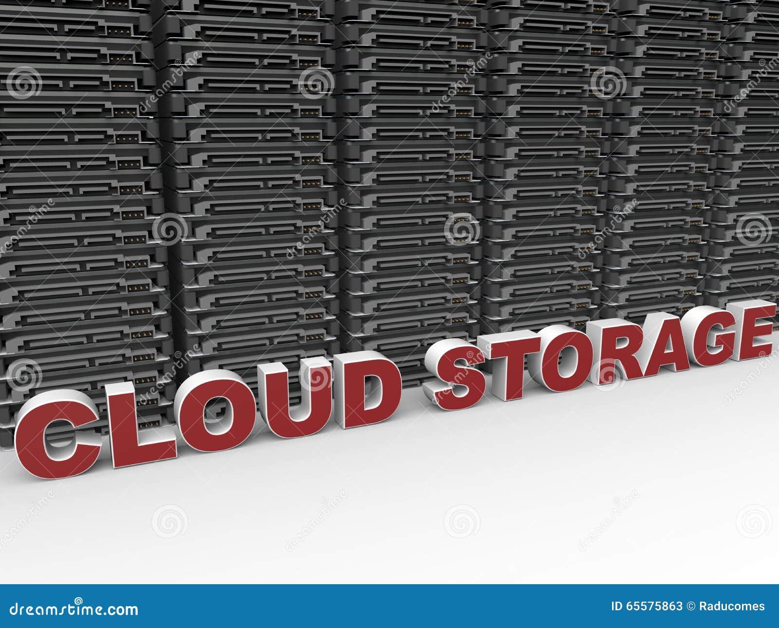 Conceito do armazenamento/da computação da nuvem