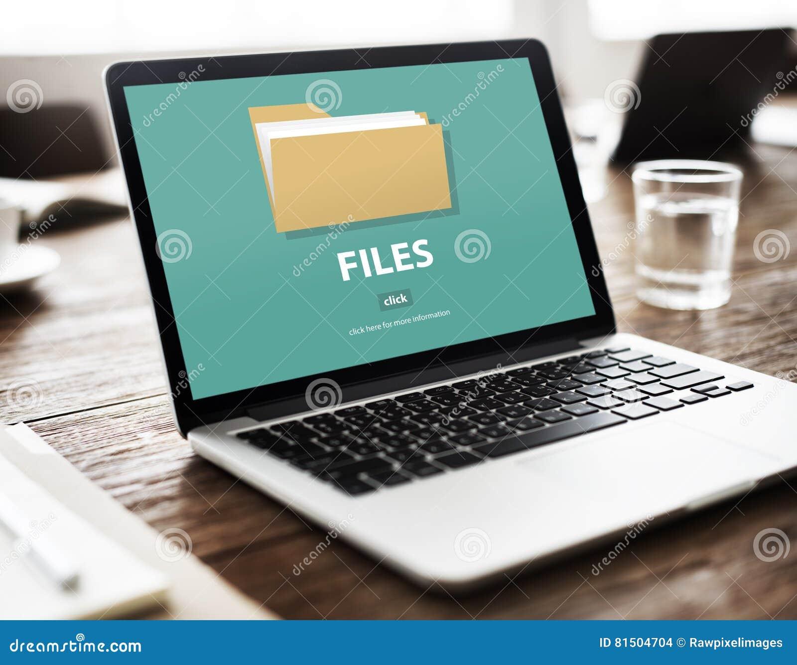 Conceito do armazenamento do original dos dados do dobrador de arquivos