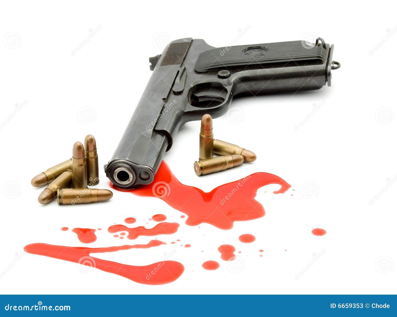 Conceito do assassinato - injetor e sangue