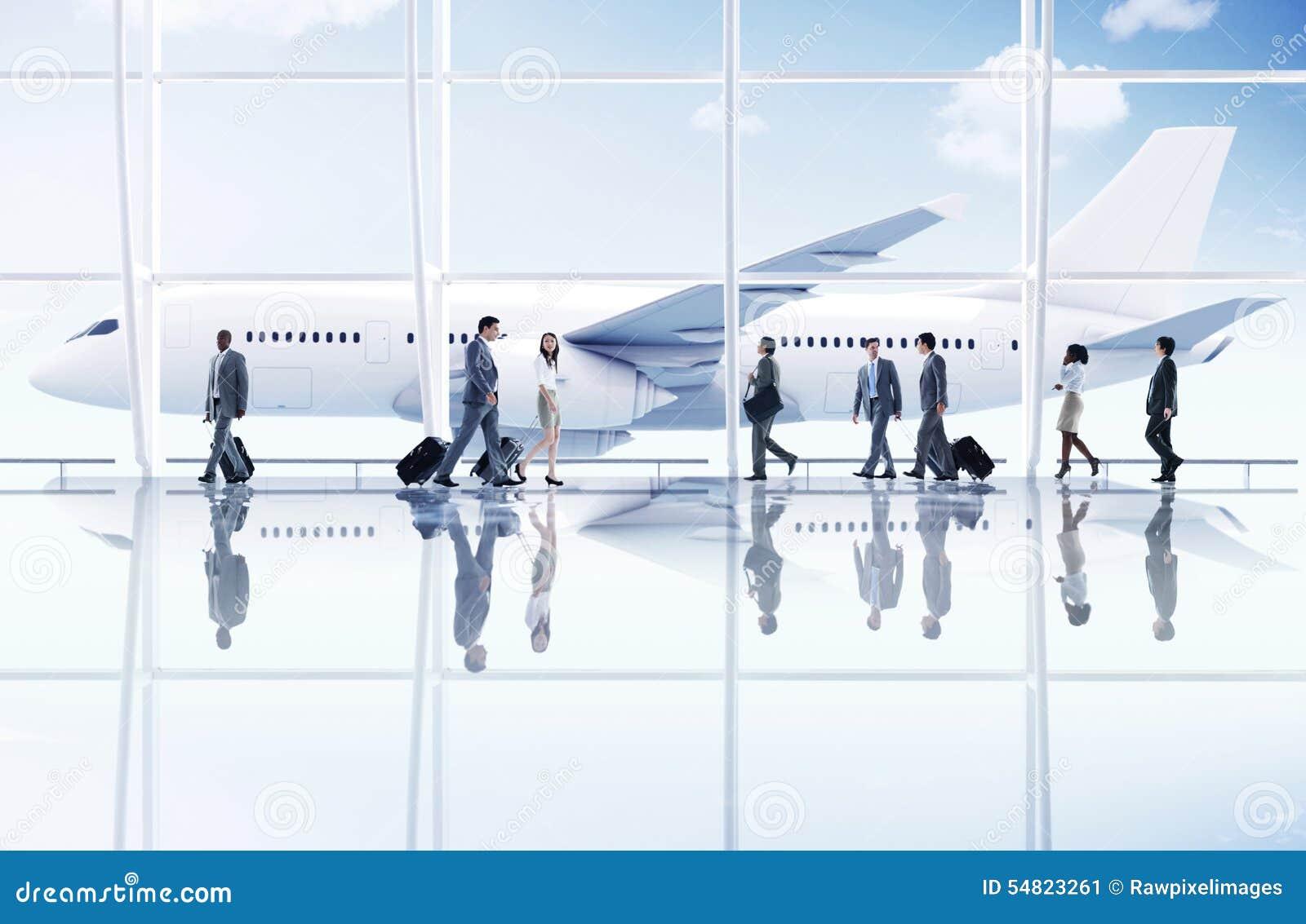 Conceito do avião do transporte da viagem de negócios do curso do aeroporto