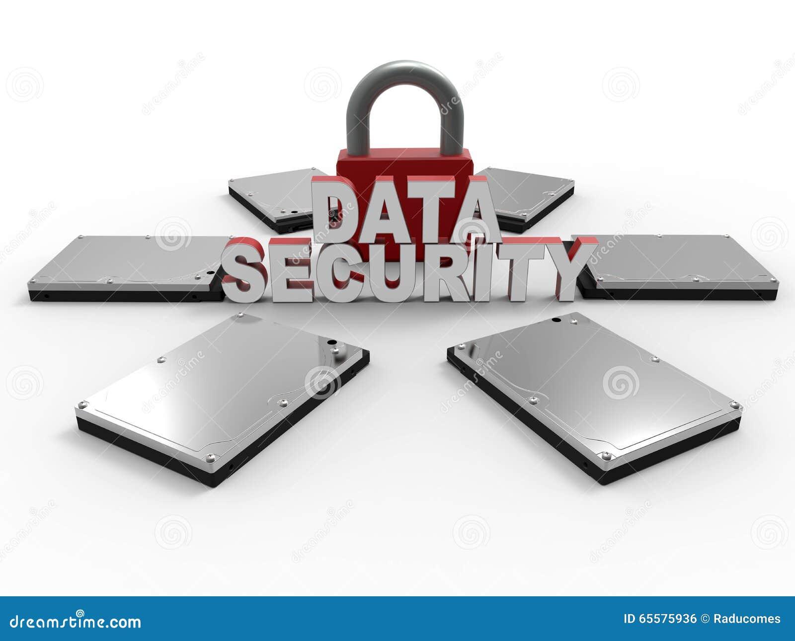 Conceito do cadeado da segurança de dados