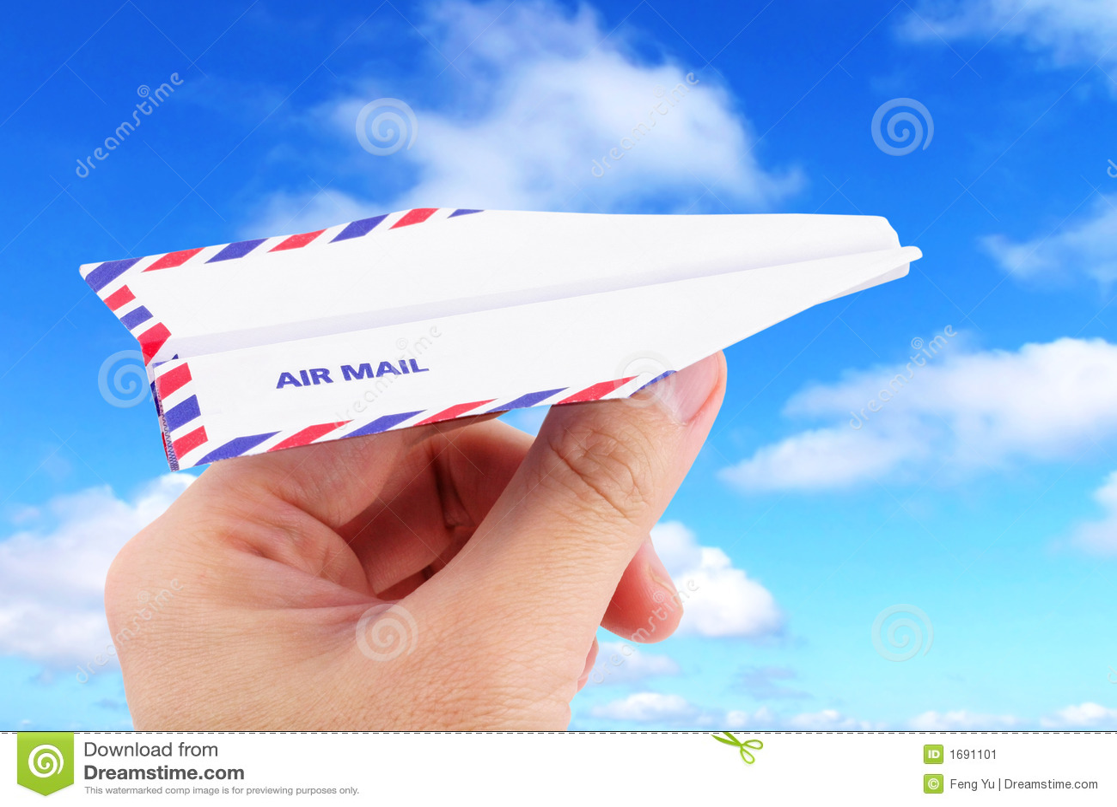 Conceito do correio aéreo do avião de papel