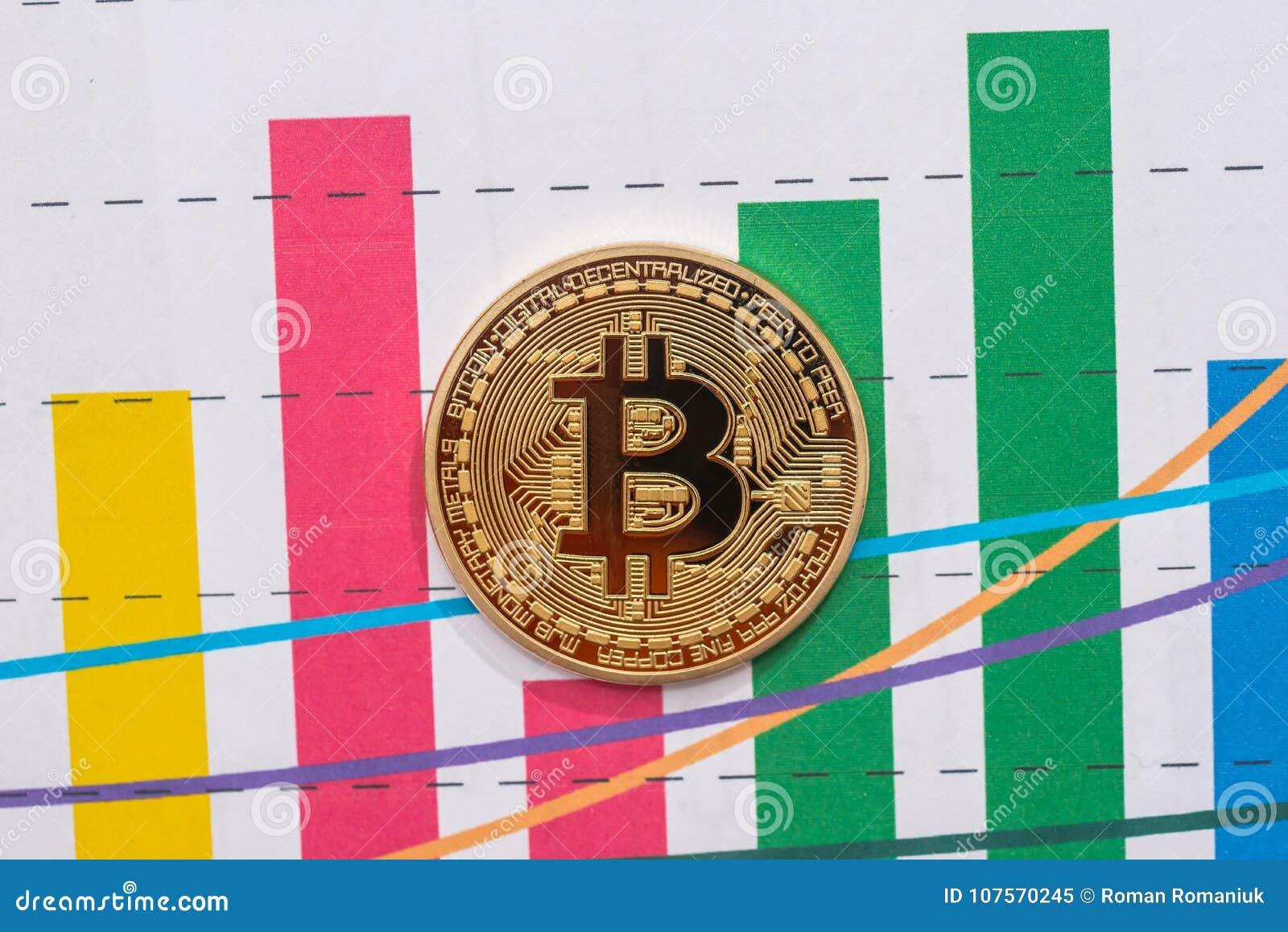 Conceito do cryptocurrency de troca