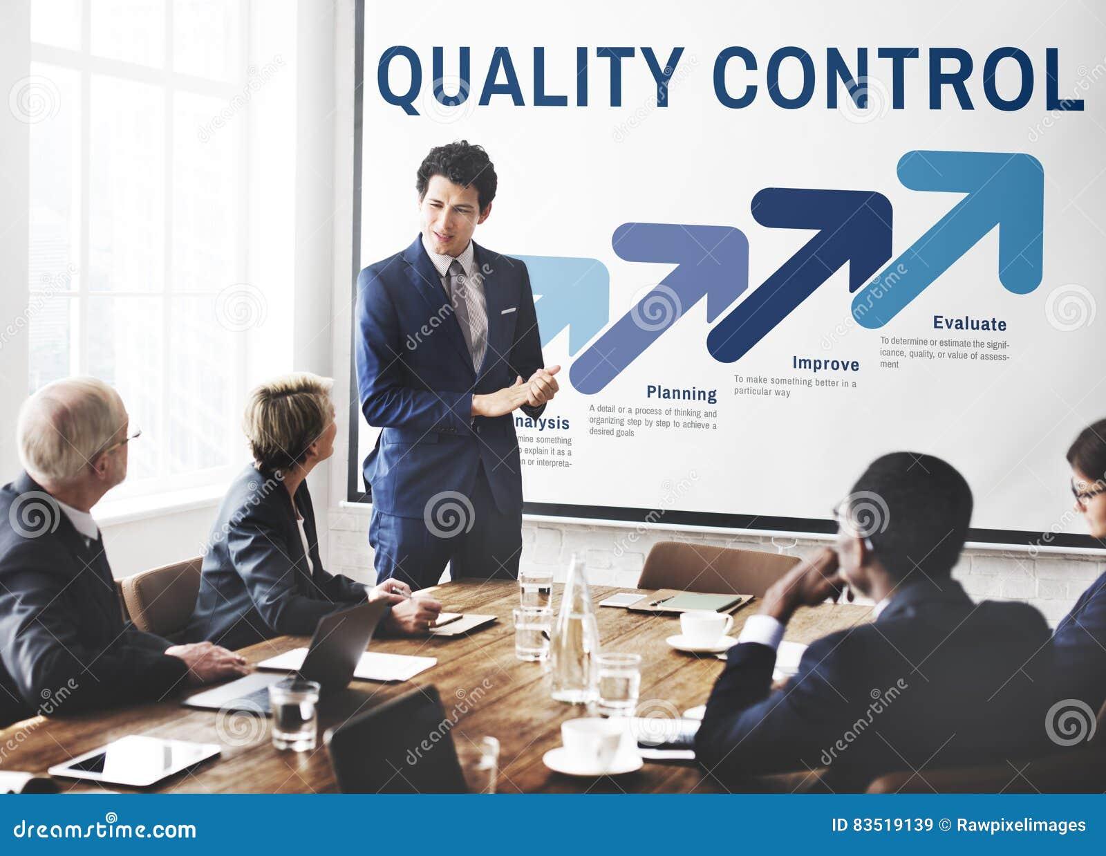 Conceito do desenvolvimento da melhoria do controle da qualidade