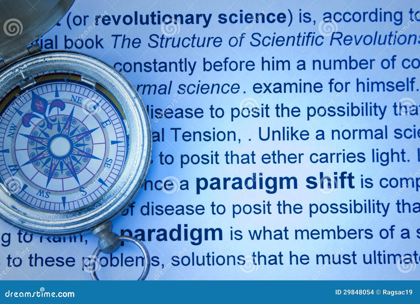 Conceito do deslocamento do paradigma