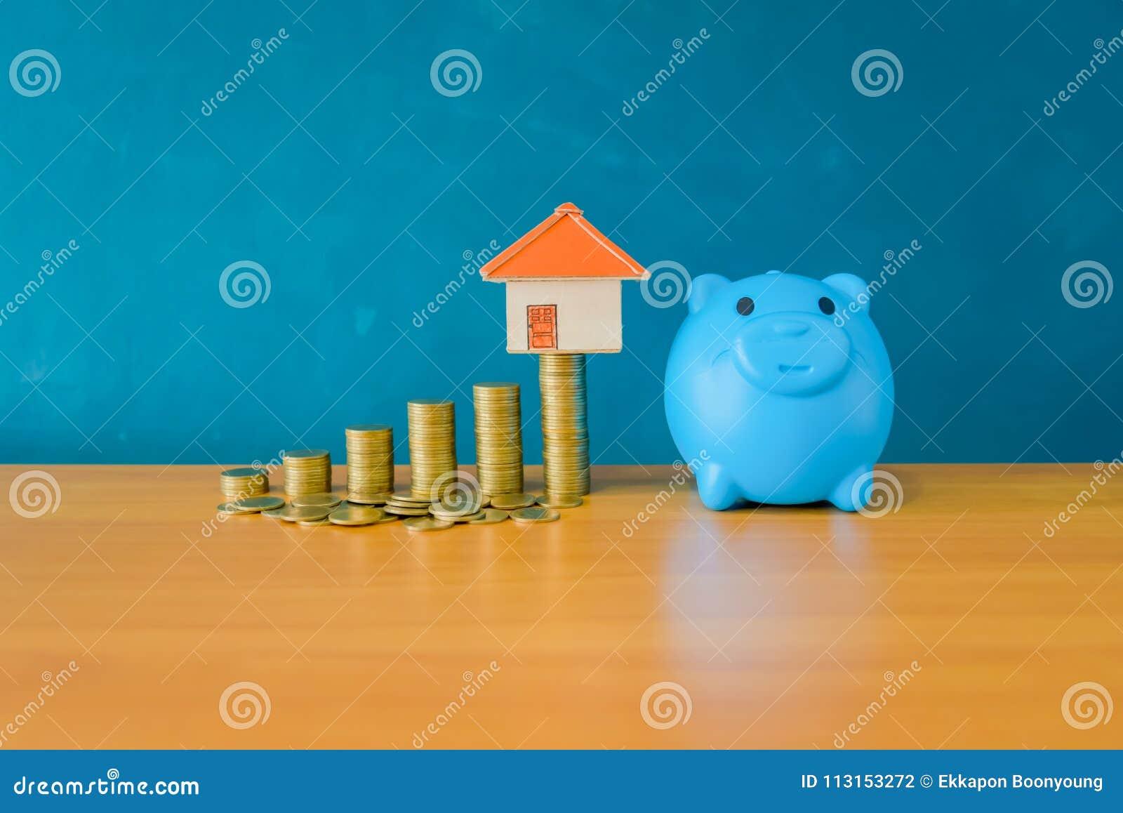 Conceito do dinheiro da economia para uma casa Finança do negócio e dinheiro c