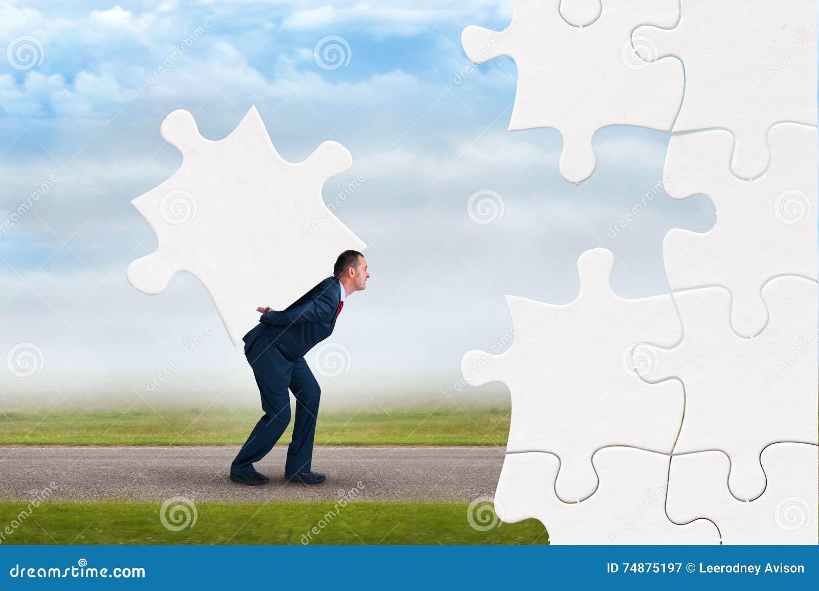 Conceito do enigma do negócio