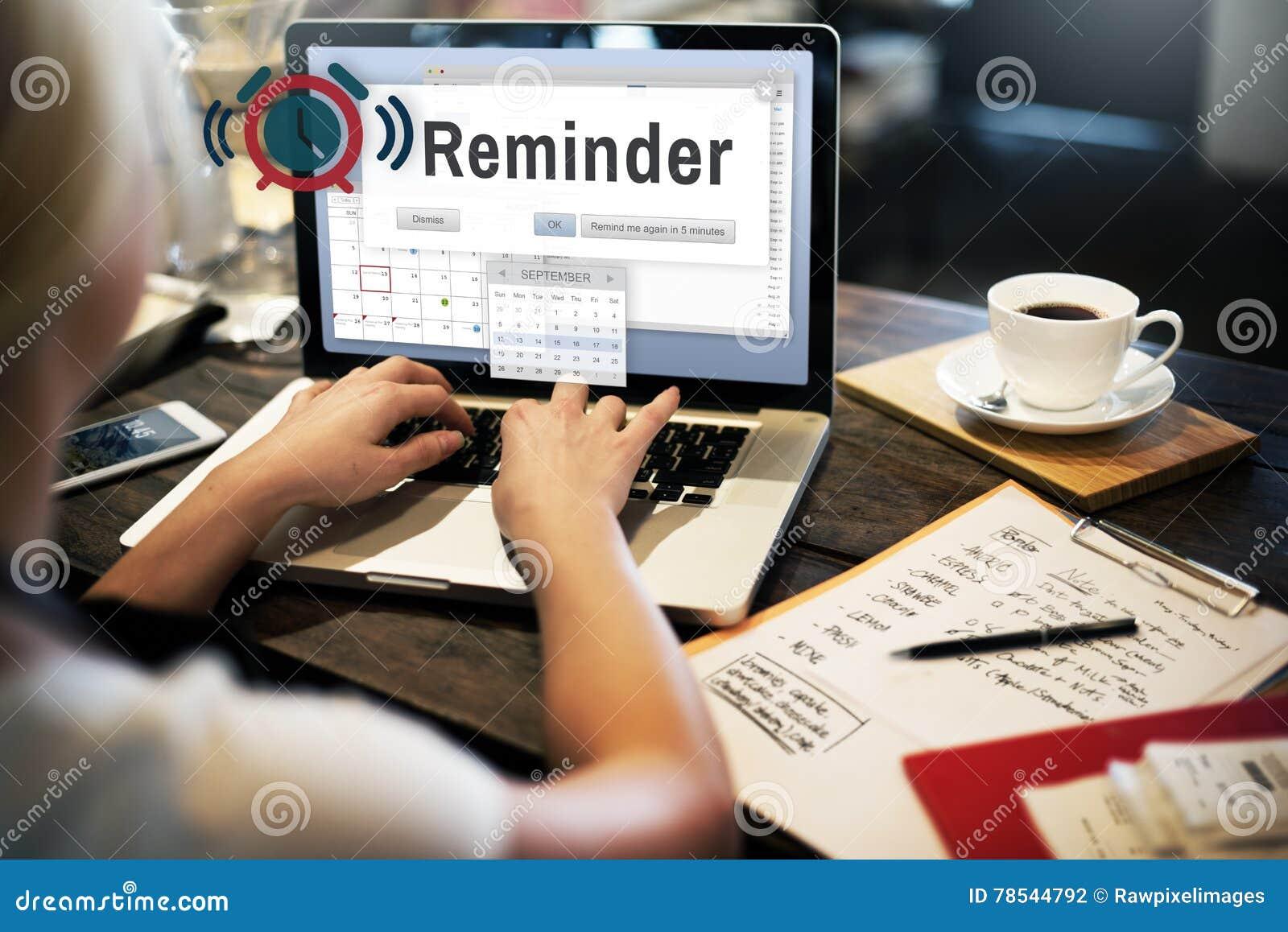 Conceito do evento do calendário do planejador do lembrete