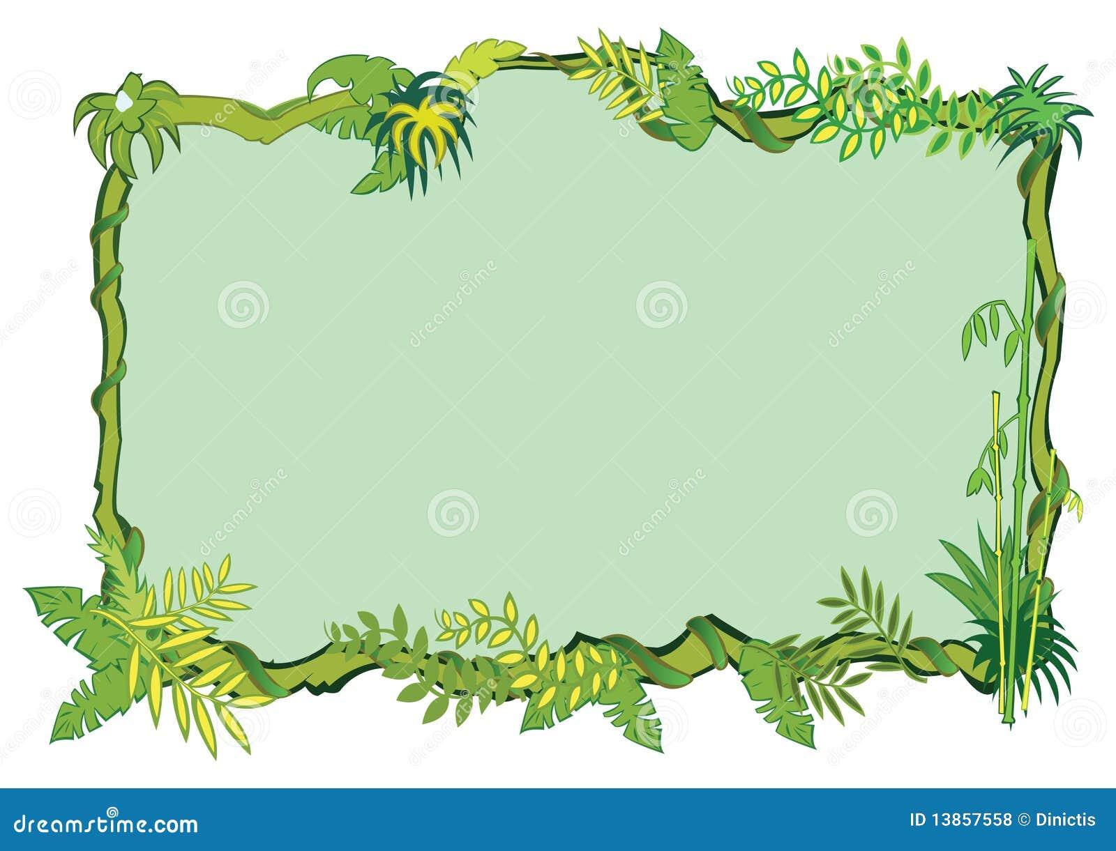 Conceito do frame da selva dentro