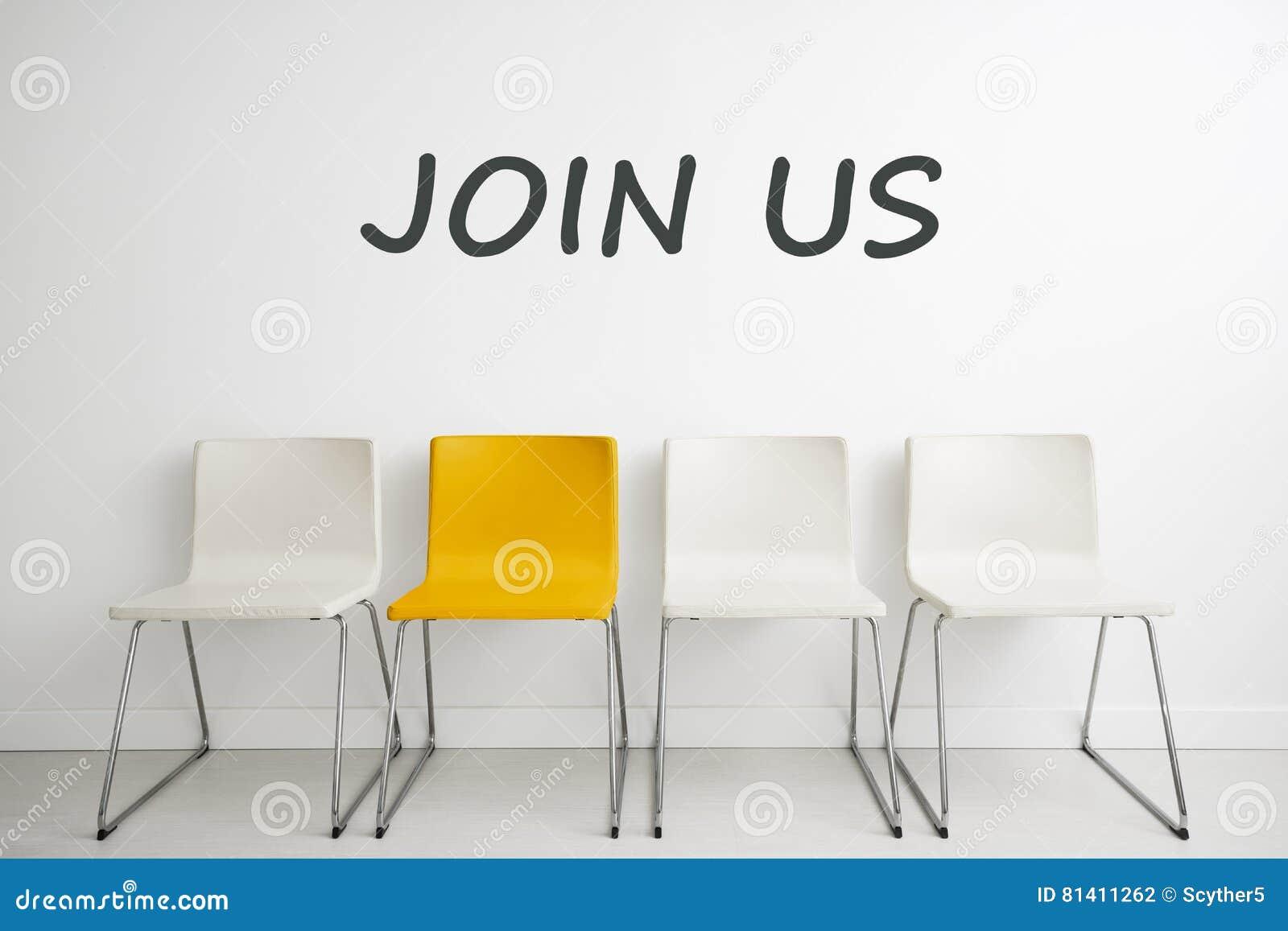 Conceito do fundo da cadeira - entrevista de aluguer do aluguer do recrutamento