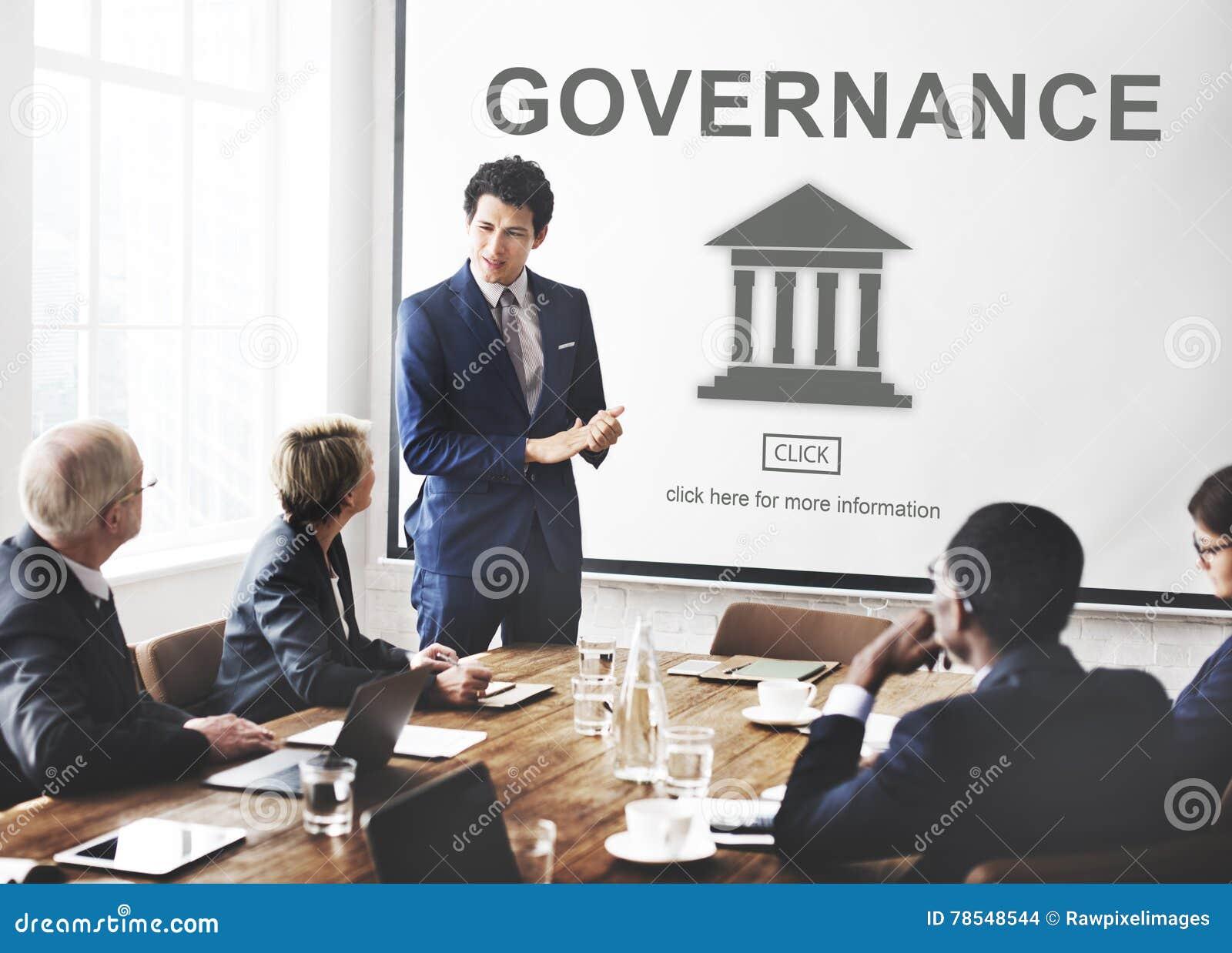 Conceito do gráfico da coluna do governo da autoridade
