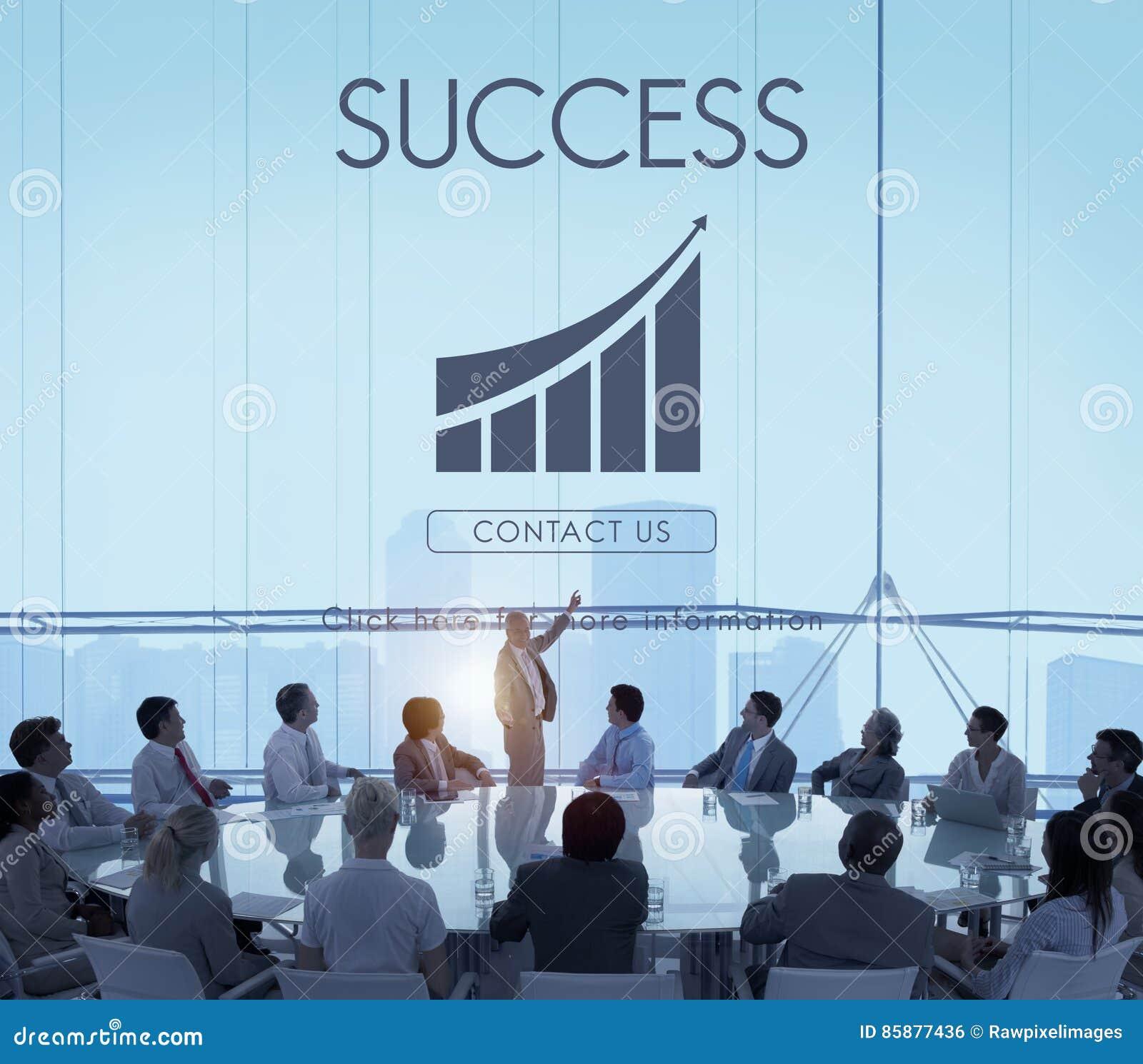 Conceito do gráfico do relatório do sucesso comercial