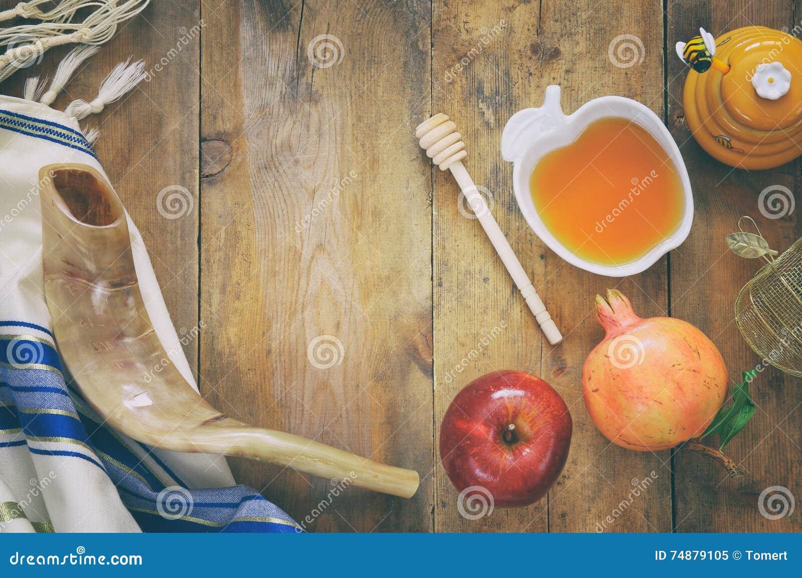 Conceito do hashanah de Rosh (feriado judaico do ano novo) Sym tradicional