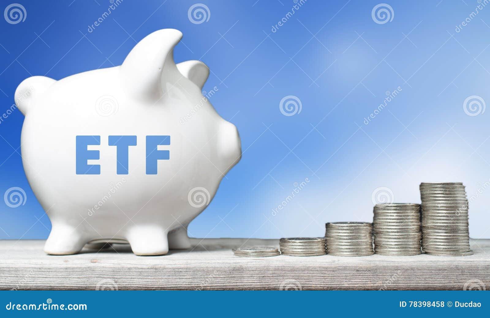 Conceito do investimento de ETF