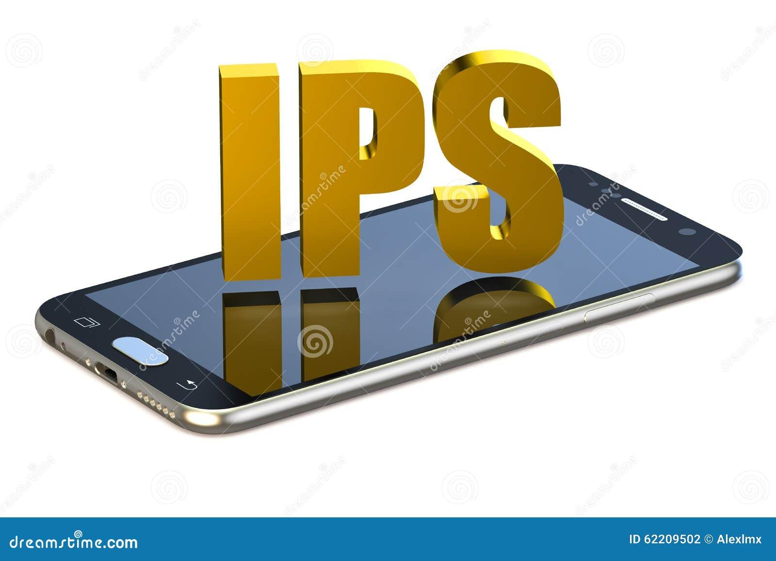 Conceito do IPS com smartphone