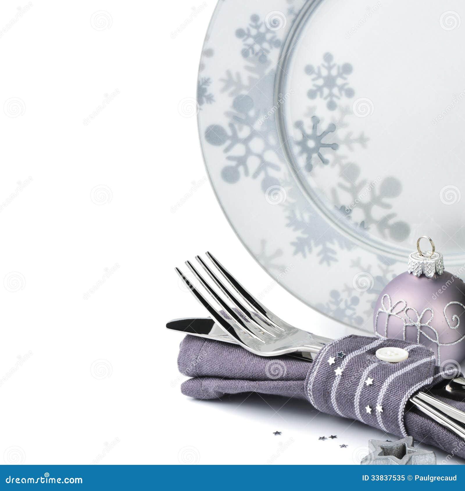 Conceito do menu do Natal isolado sobre o branco