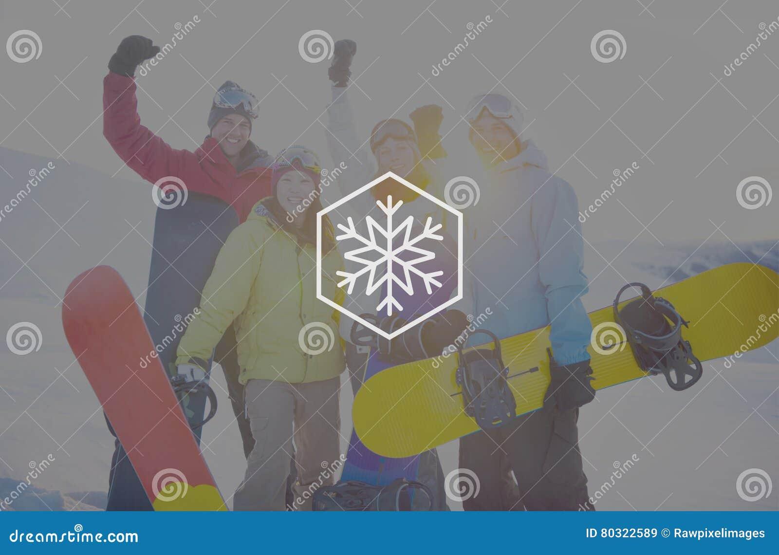 Conceito do Natal do blizzard do floco de neve do inverno da neve