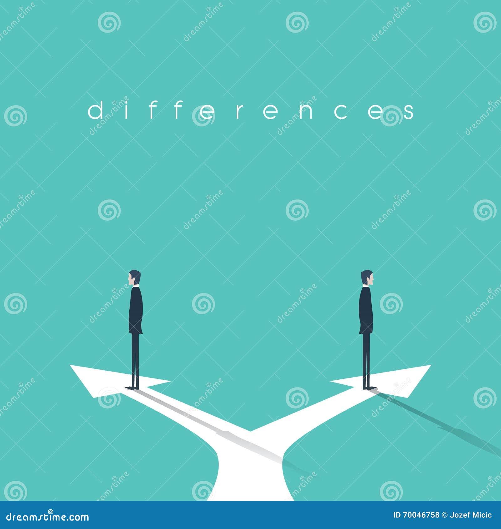 Conceito do negcio da confrontao de opinies diferentes e de conceito do negcio da confrontao de opinies diferentes e de desacordo dois homens de negcios que esto em sentidos opostos ccuart Gallery
