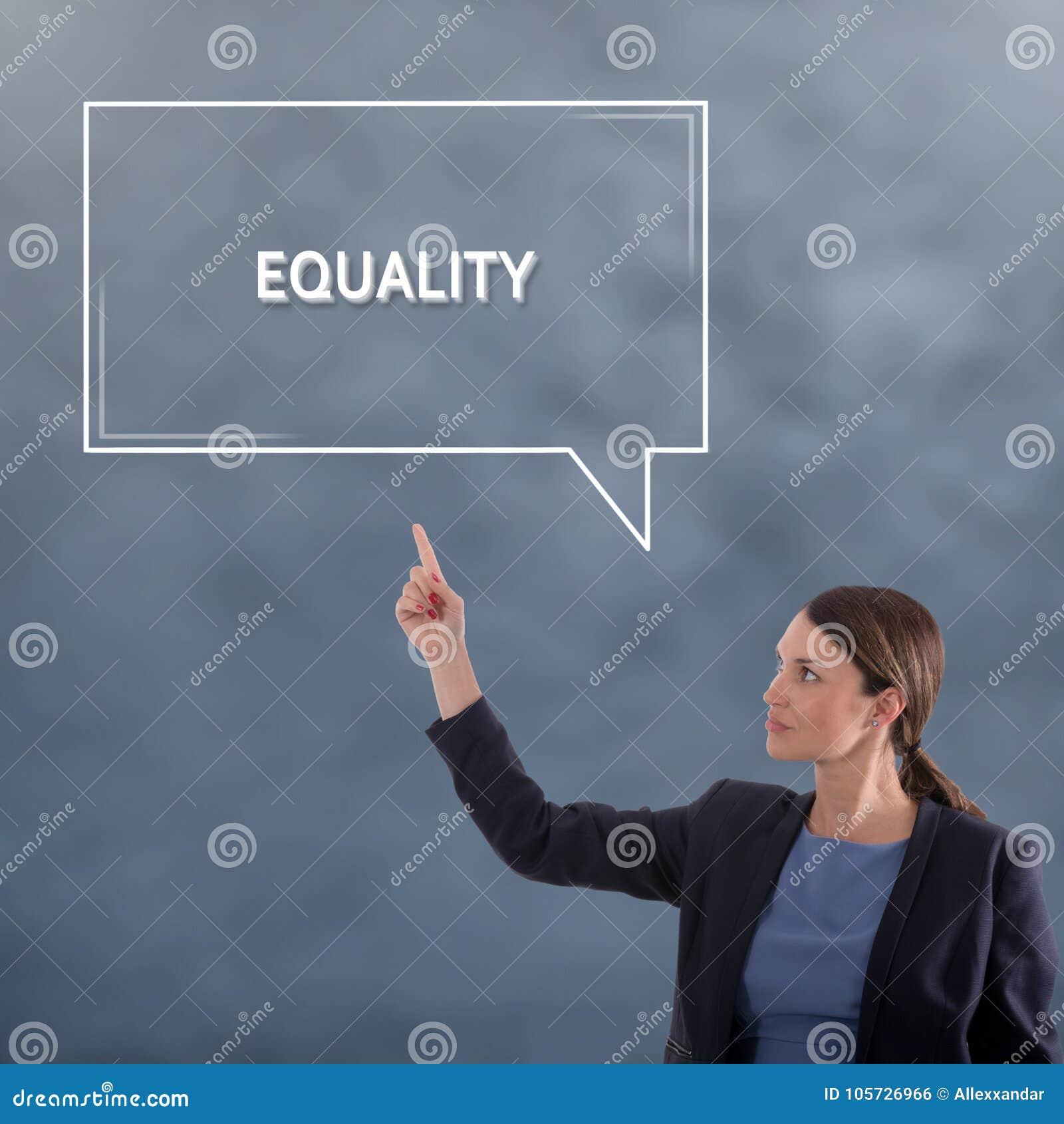Conceito do negócio da IGUALDADE Conceito do gráfico da mulher de negócio