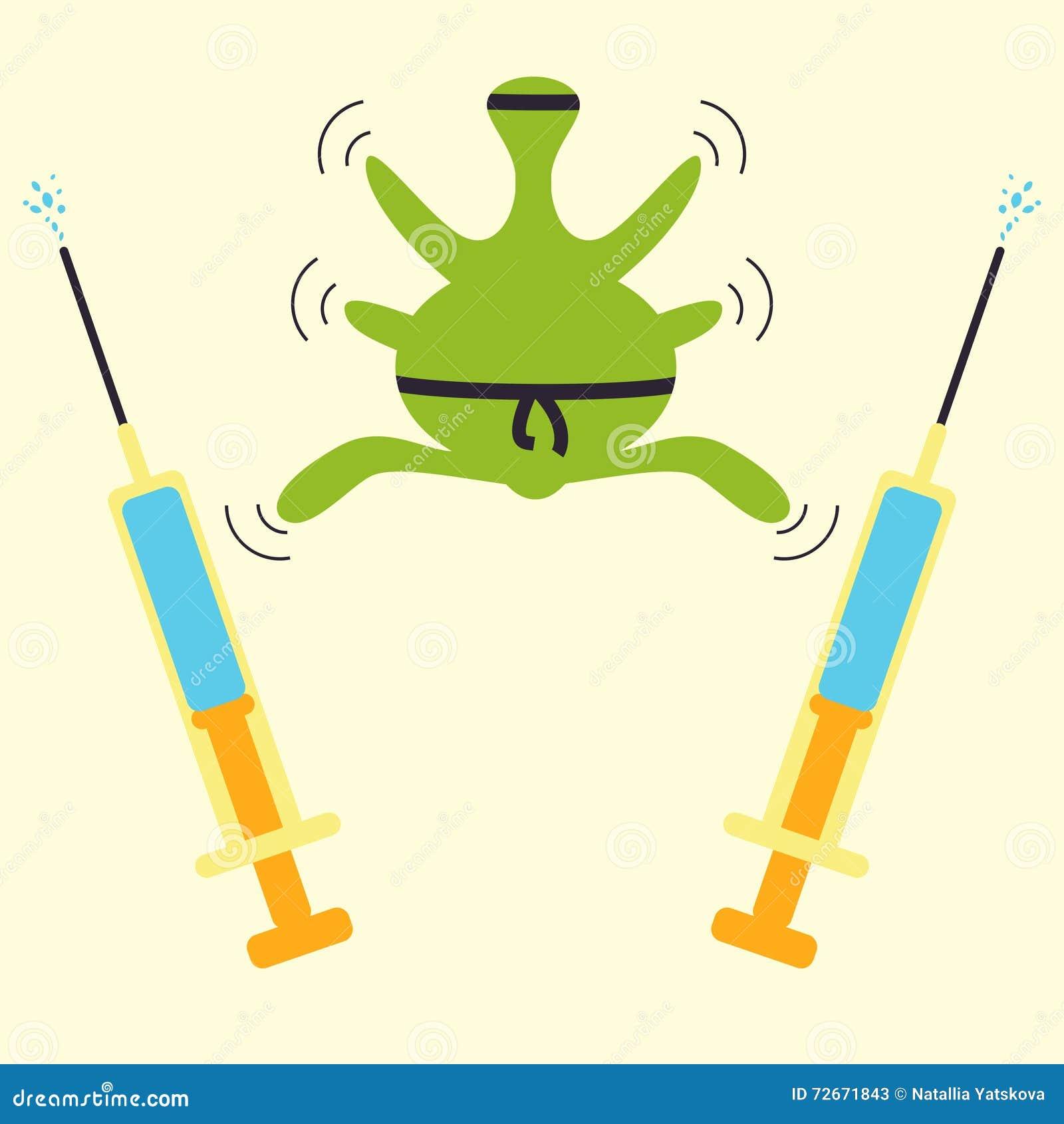 Conceito do ninja da resistência dos antibióticos